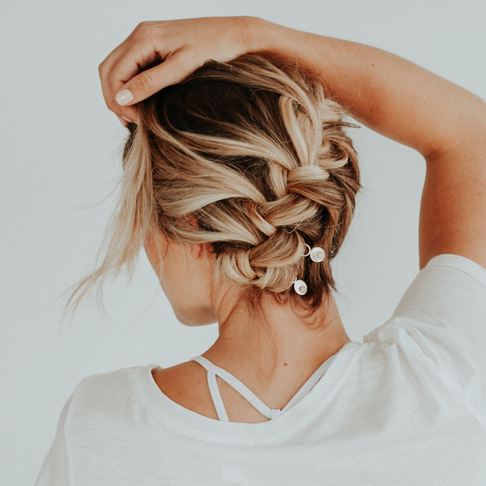 French Braid with Alto Hair Pins Tutorial - Click through for step-by-step tutorial