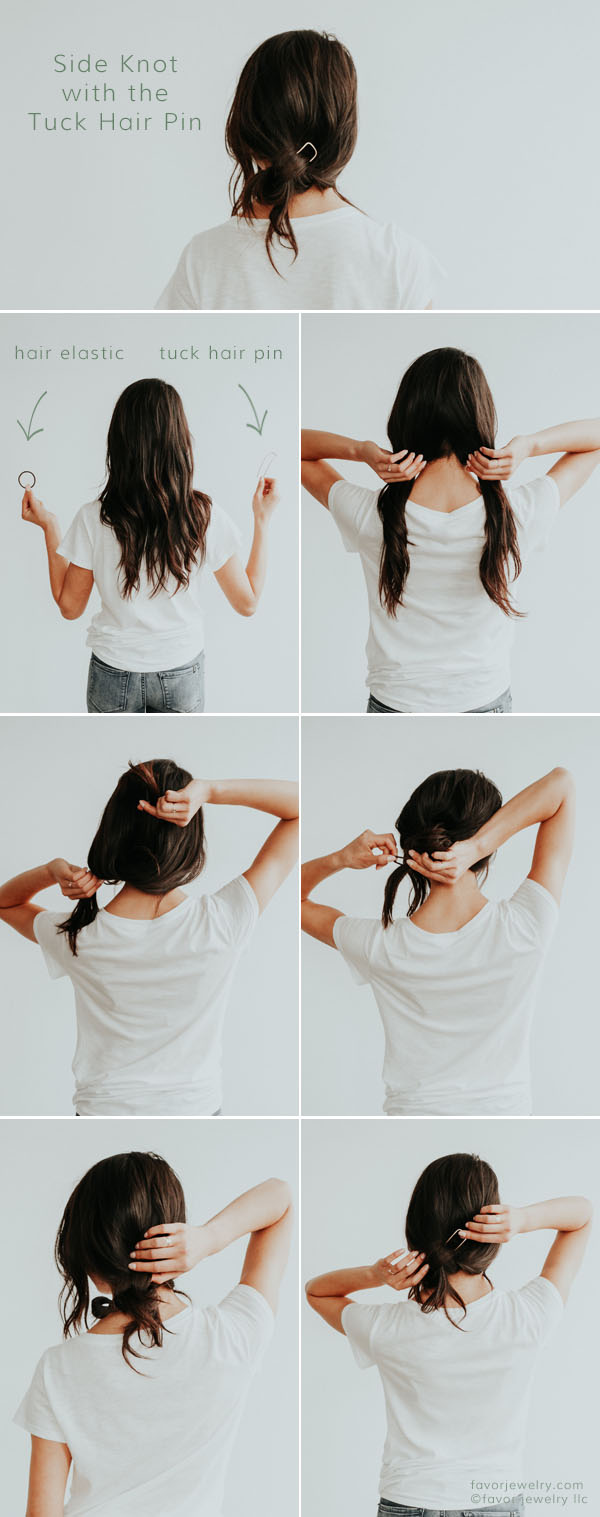 Easy Knotted Hair Pin Style Perfect for Long Hair   Favor Jewelry