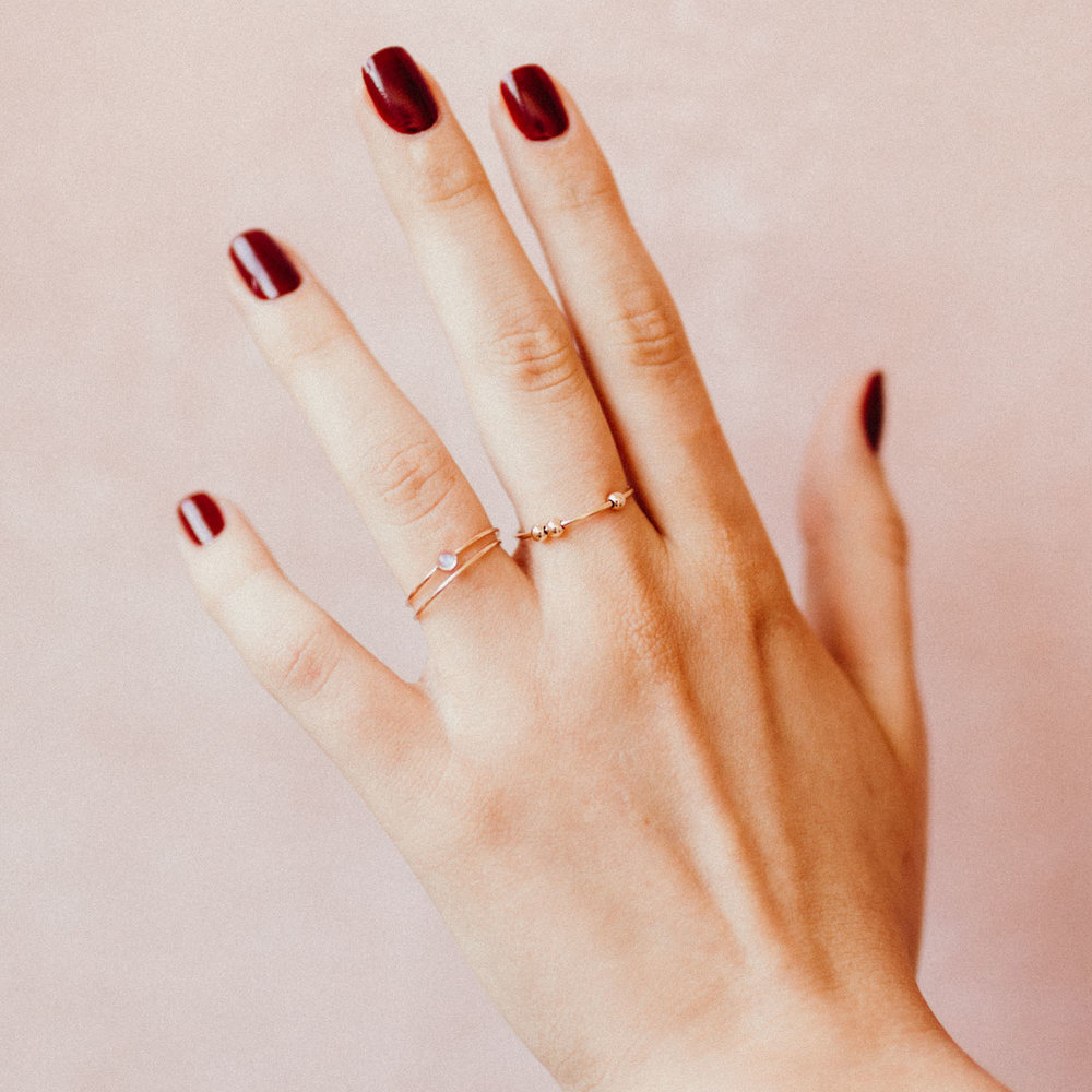 Beaded Stackable rings
