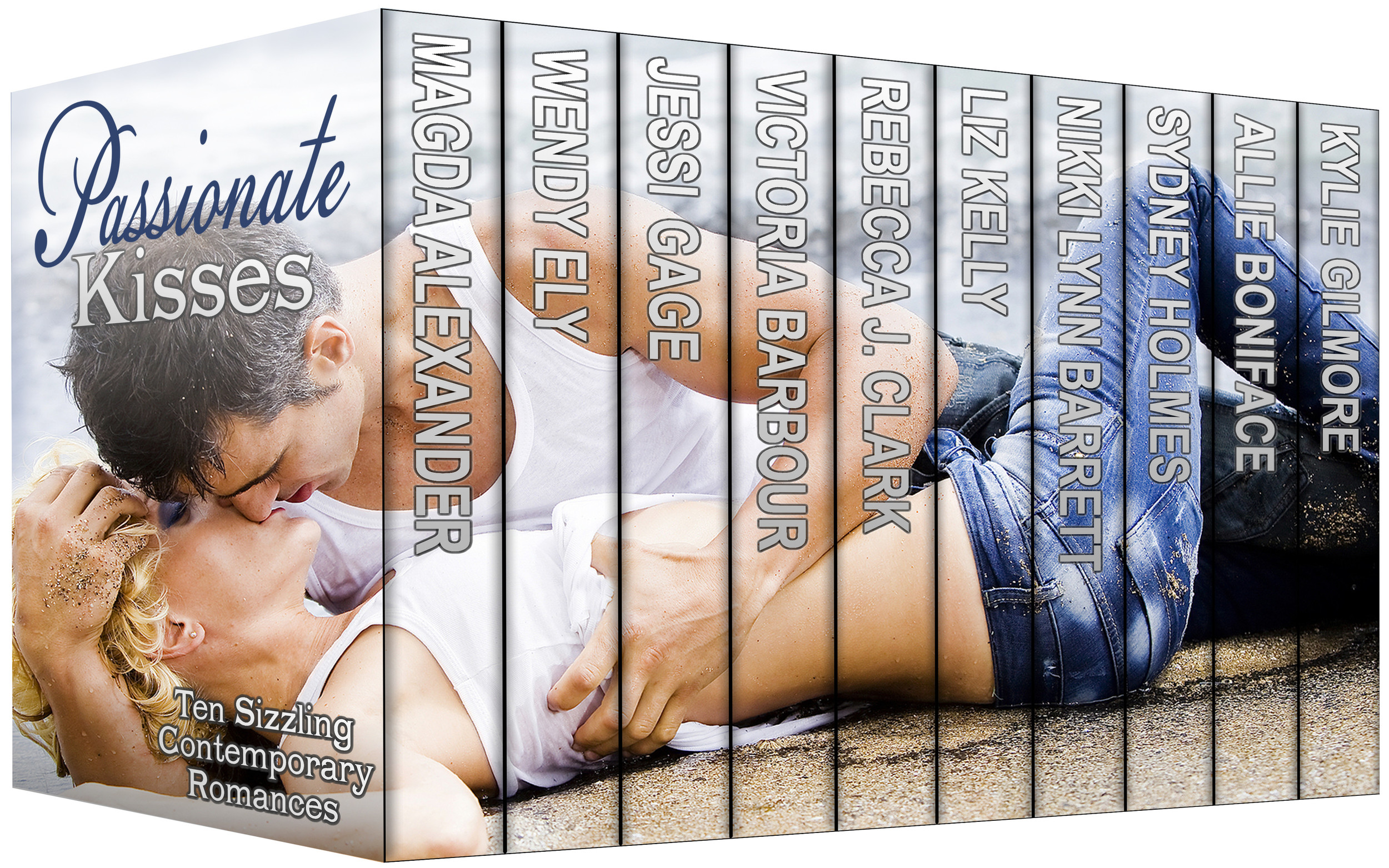 Cover Reveal for Passionate Kisses! Click on the image to head to our Facebook page and give us a like. :)