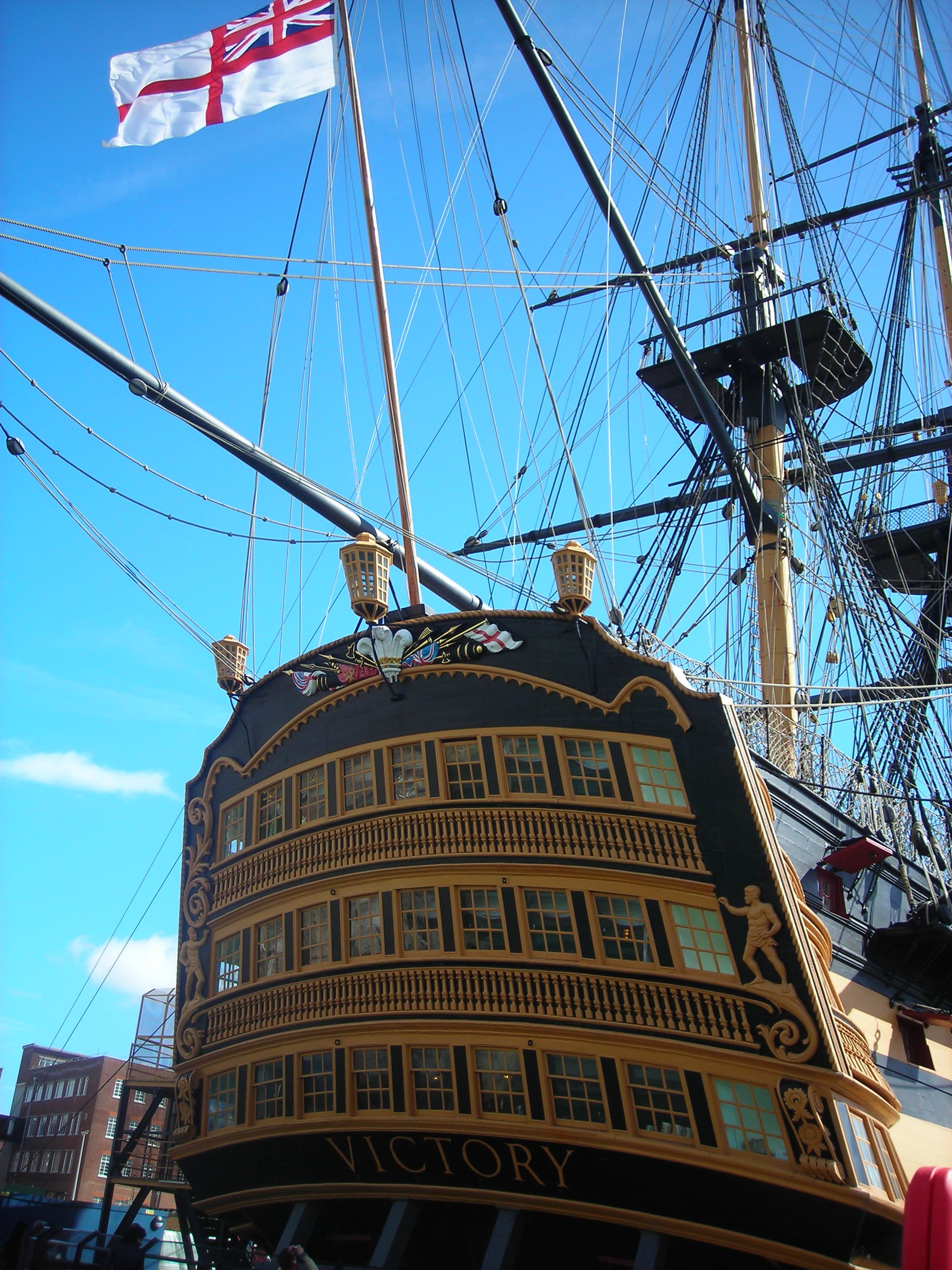 HMS Victory. Admiral Nelson's 104 gun ship of the line. Anne saw this when she was in Portsmouth. I love this picture!