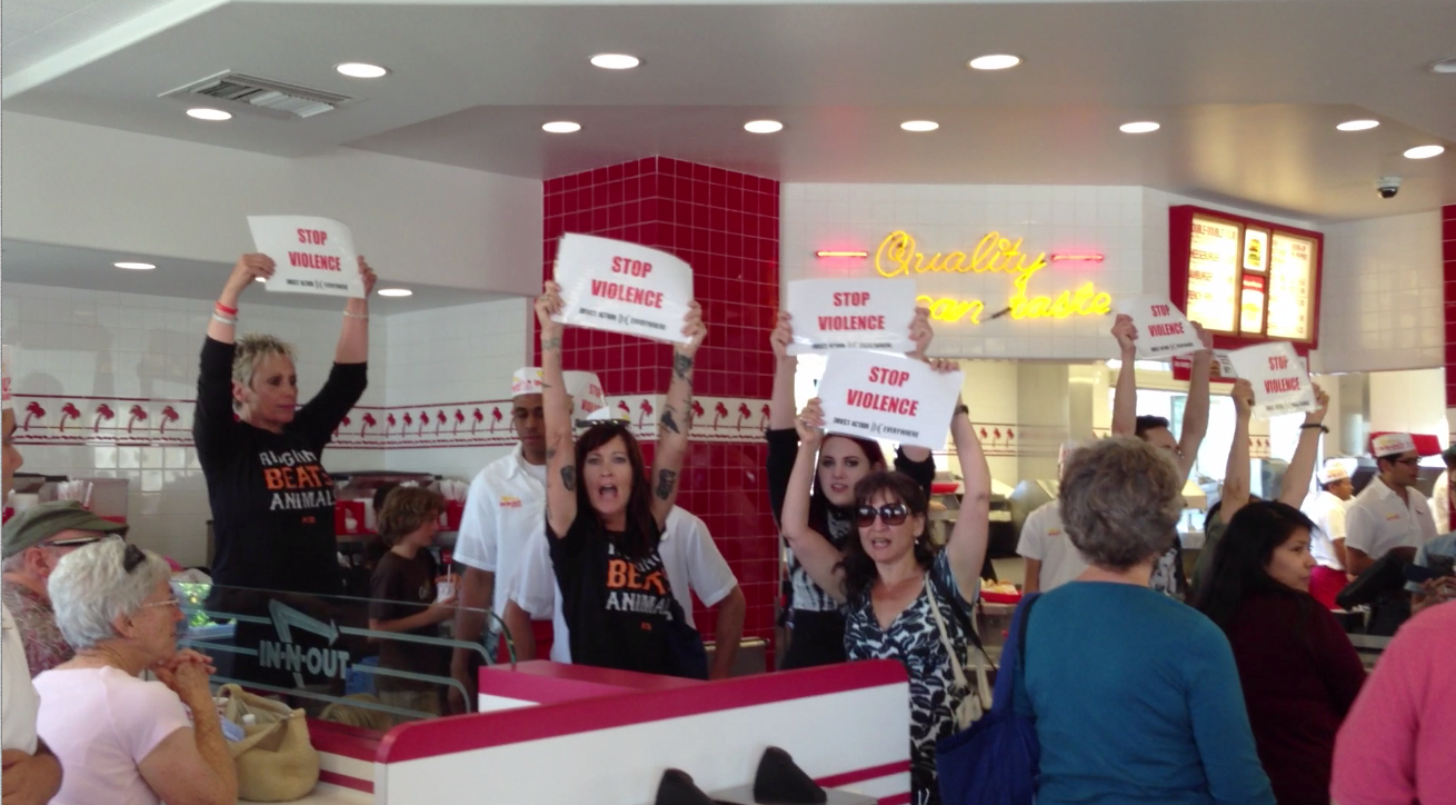 In and Out Burger -- It's not FOOD. It's VIOLENCE.