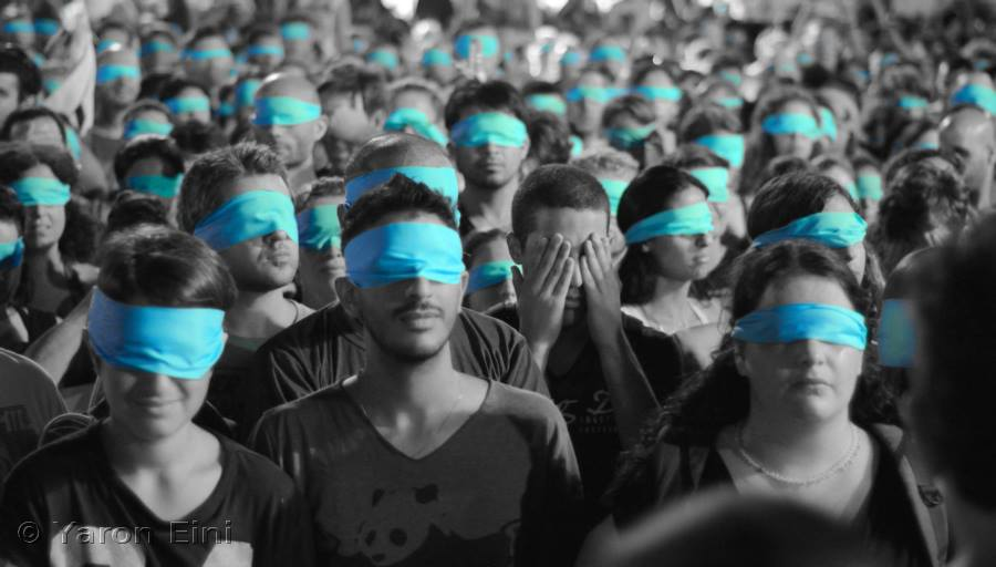 Thousands of activists converge in Tel Aviv, as part of our Earthlings - No Longer Blind to Injustice March.