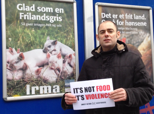 Mathias speaking out against the Humane Myth in Denmark. It's not food. It's violence.