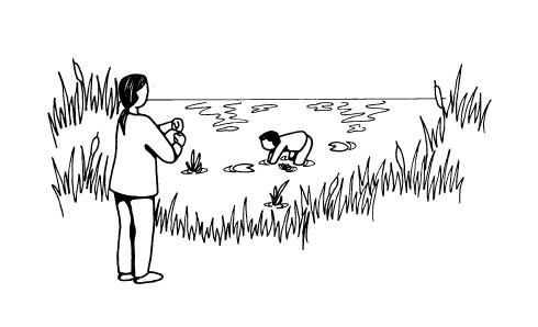 If you came across a child collapsed in a pond, what would you do?