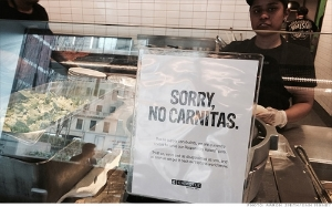 Chipotle has stopped serving pig parts for the time being.  Must be a good thing, right? Not necessarily...