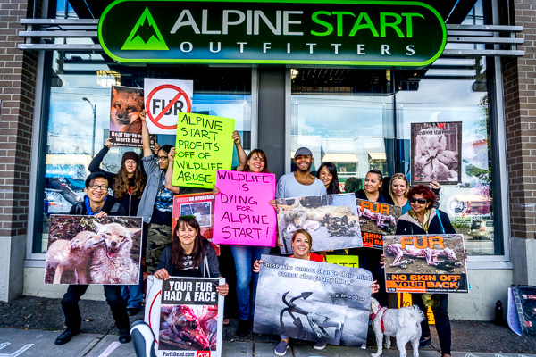 Activist group shot after a fur protest