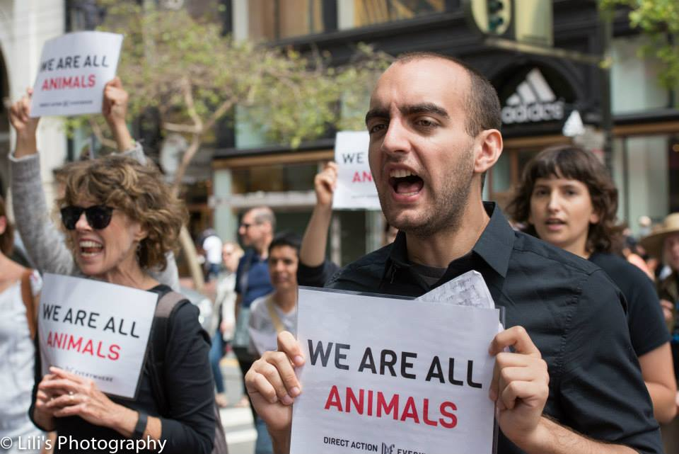 Samer speaking out for animals!