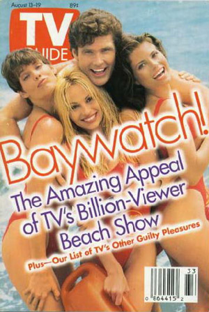 "Alexandra Paul and ""Baywatch"" co-stars make the cover of the TV Guide."