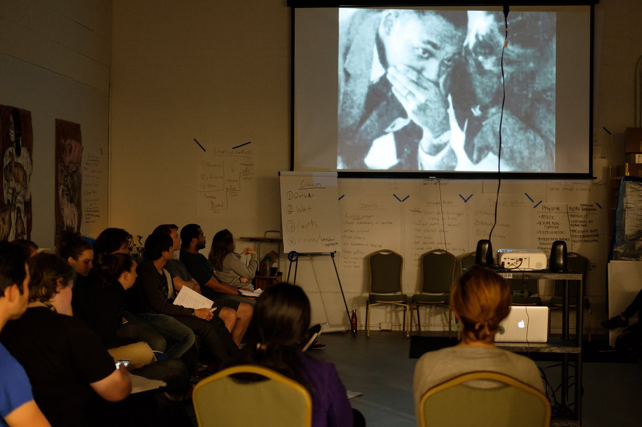 A nonviolence training at the Berkeley Animal Rights Center.