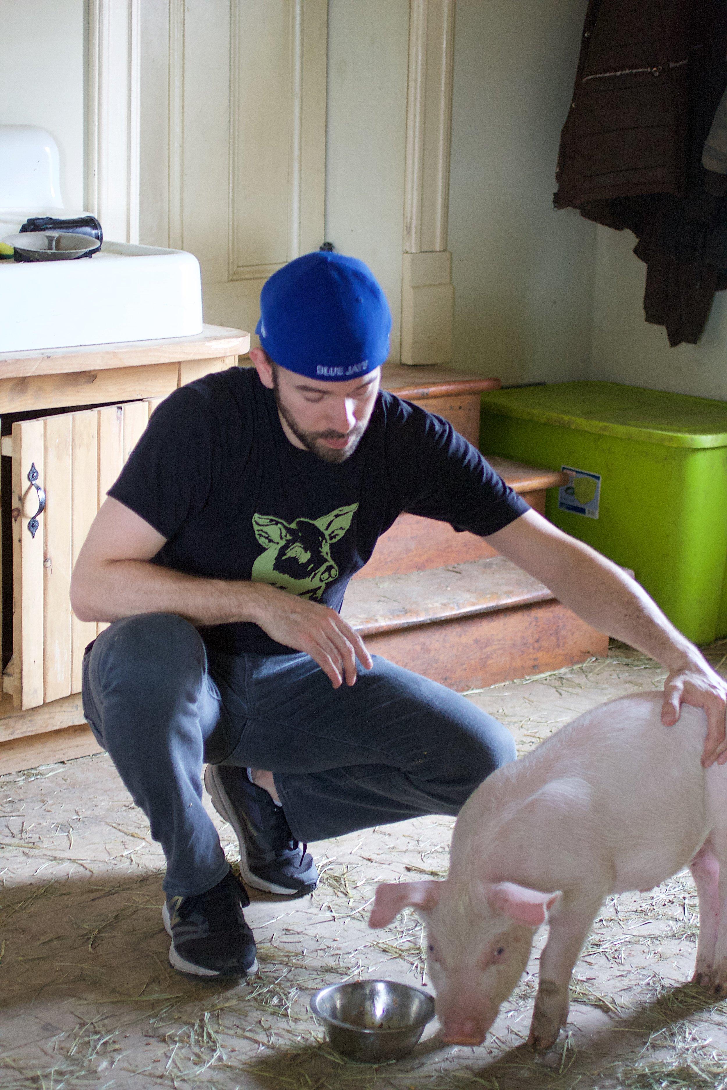 Madison bonding with activist Alex Bez.
