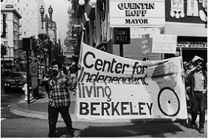 Berkeley residents march for disability rights.