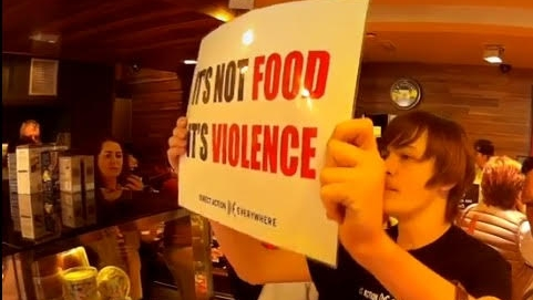 Animal rights protest targets butchers and shoppers in Northern Ireland - March 31, 2017Belfast Telegraph