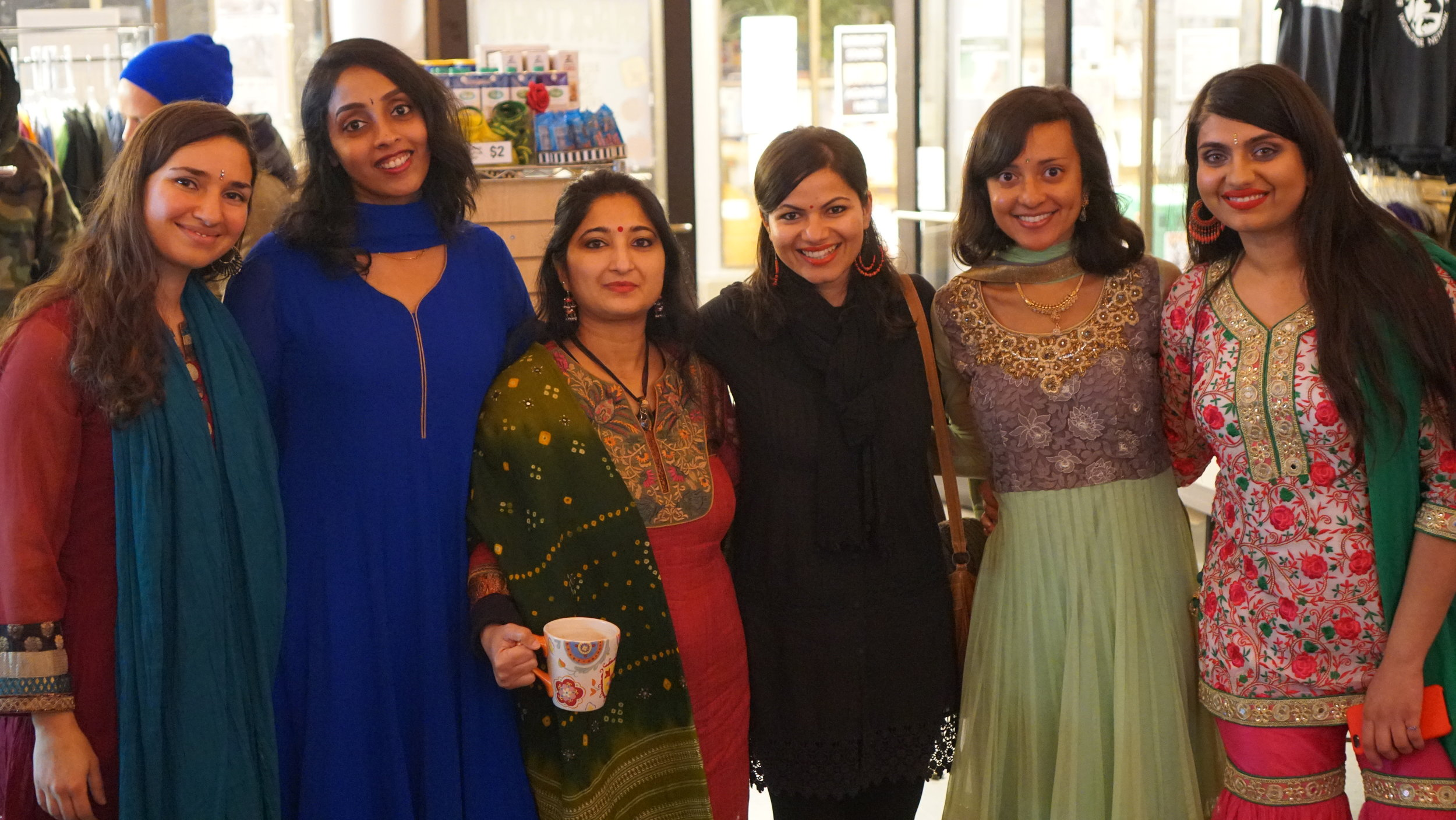 Activists at a Bollywood Night event at the Berkeley Animal Rights Center