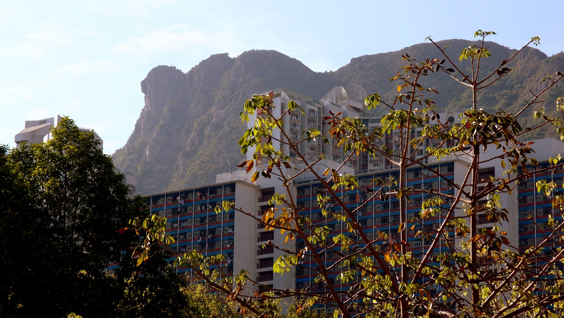 The famous Lion Rock, image taken in Wong Tai Sin