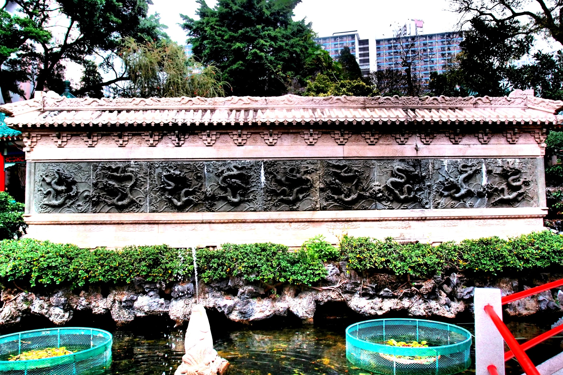 The Nine Dragon Wall at the Sik Sik Yuen Wong Tai Sin Temple