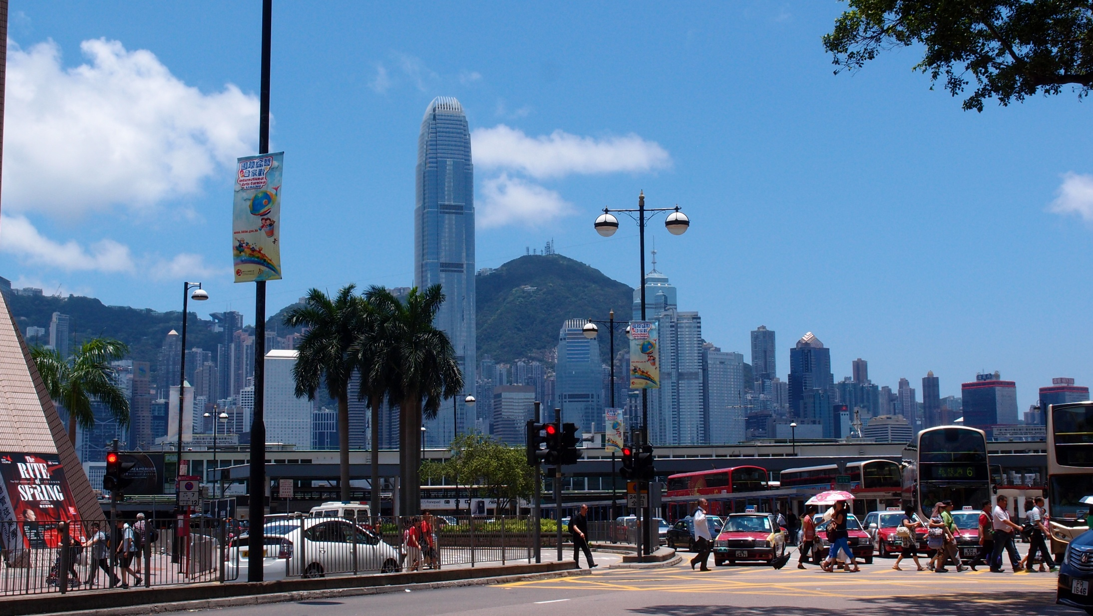 A view of the Peak from TST, Kowloon
