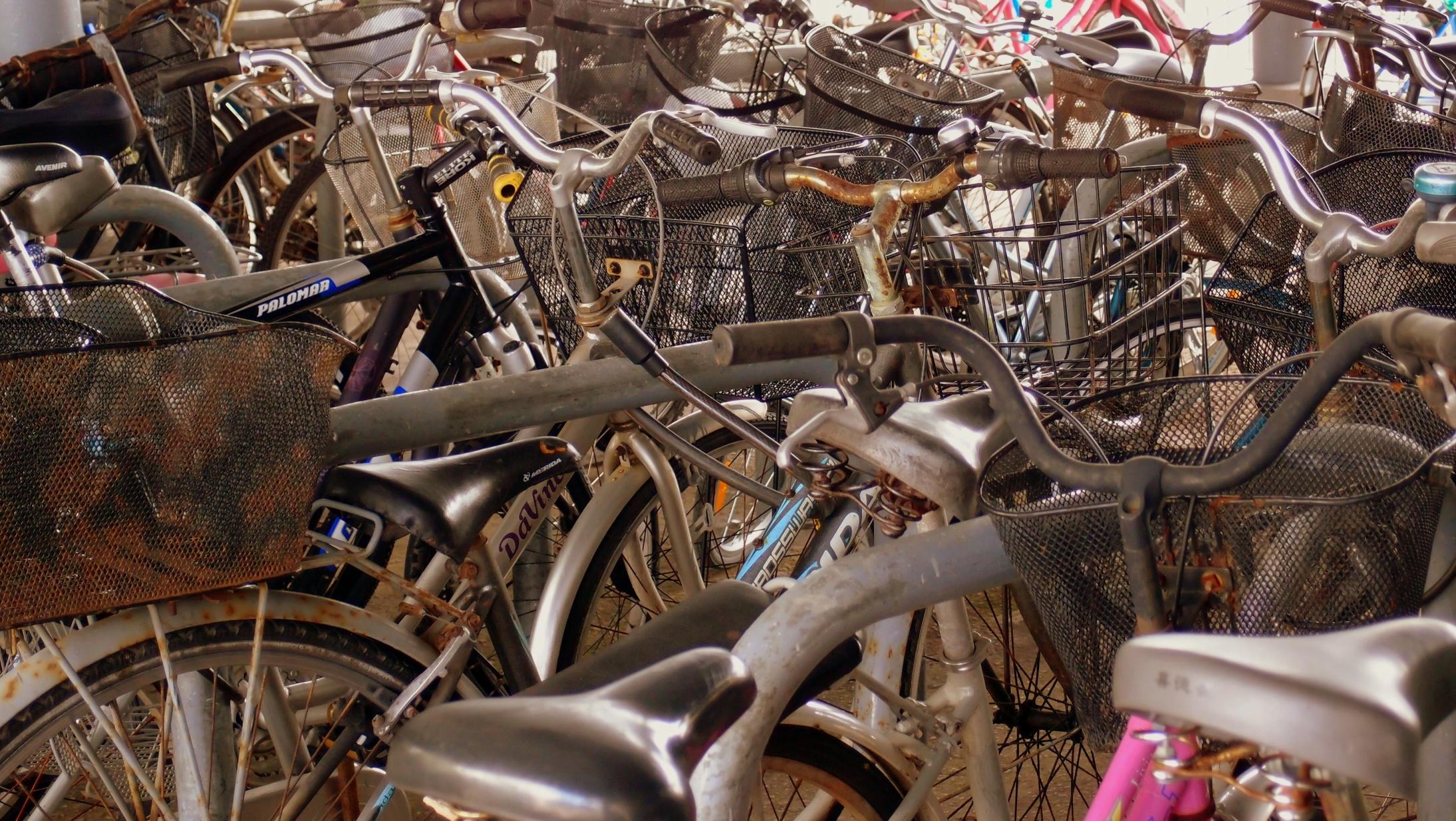 Bike lot at Mui Wo on Lantau