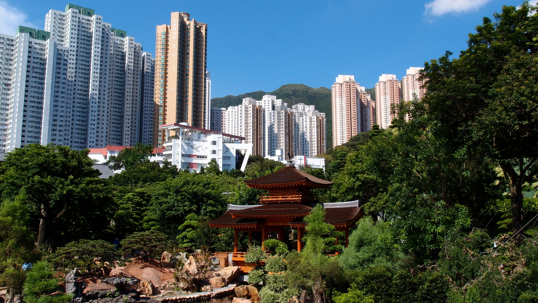 A lovely view from within the Nan Lian Garden