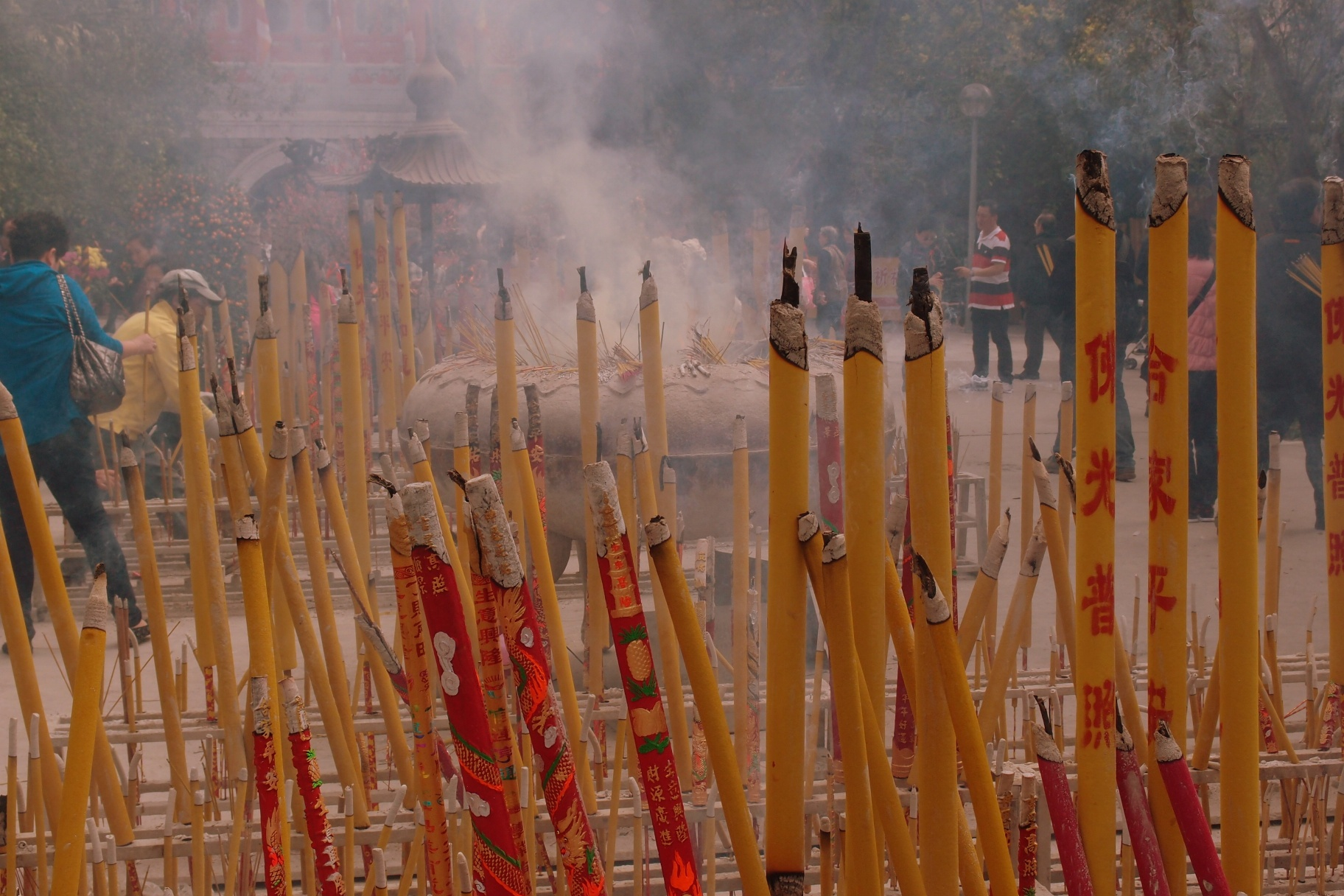 They take incense burning up here very seriously