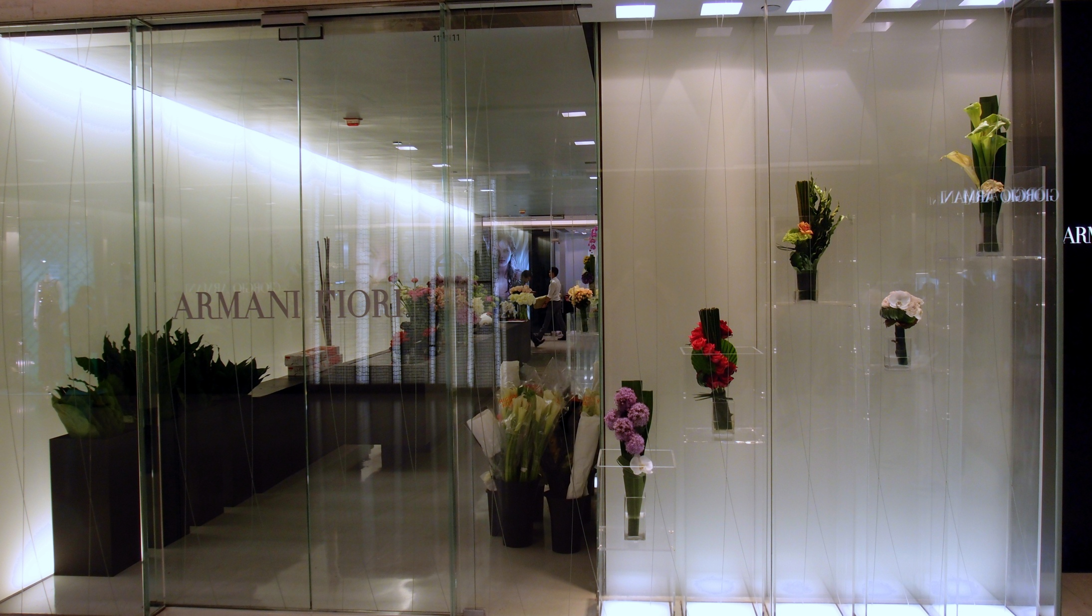 The Armani Flower shop in Chater House