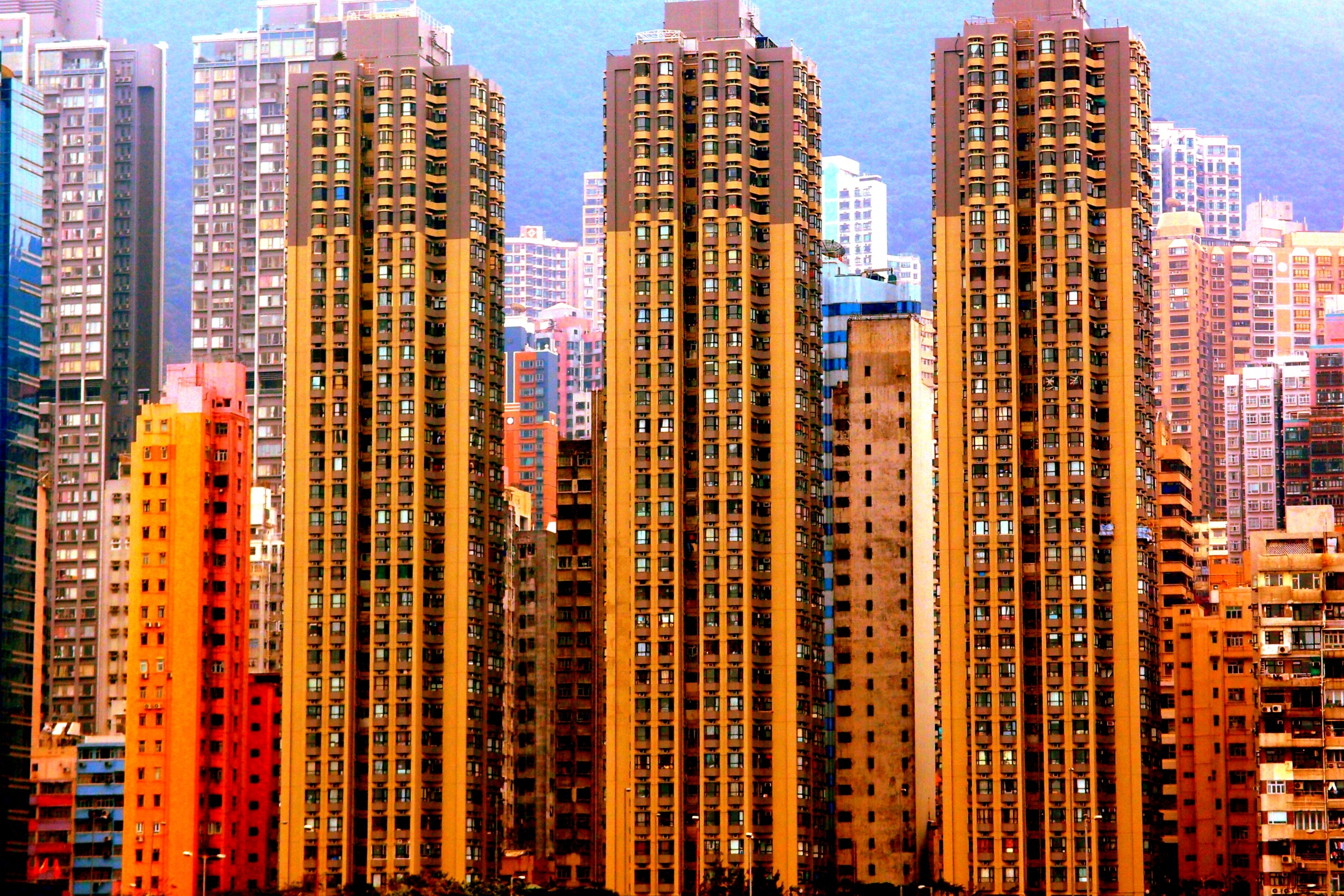 Apartment blocks near Kennedy Town in Western District on the Island
