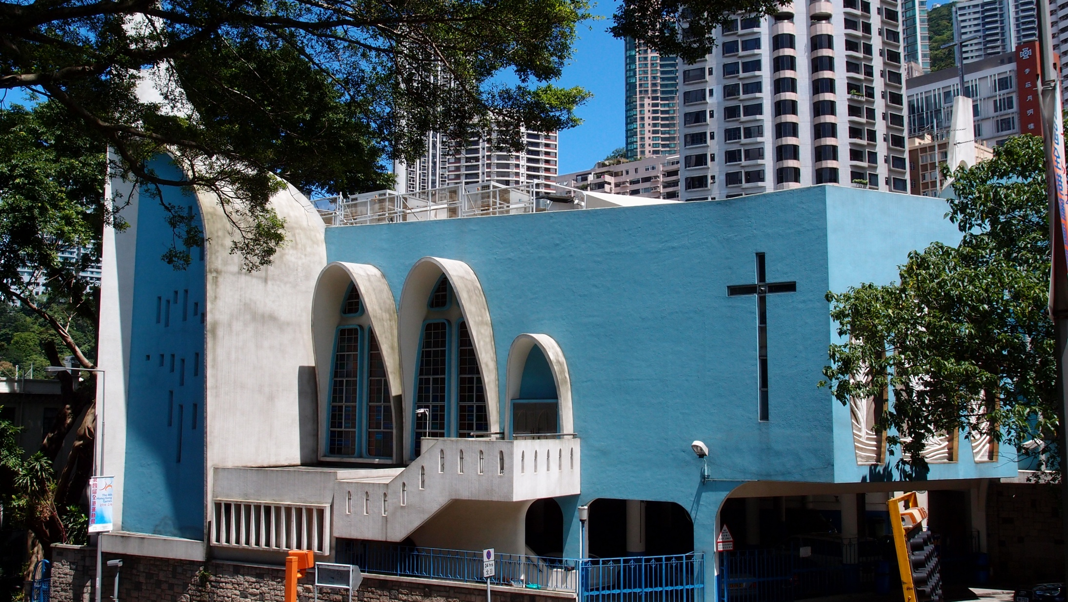 St. Josephs Church on Garden Road in the Mid Levels, a famous Catholic Church