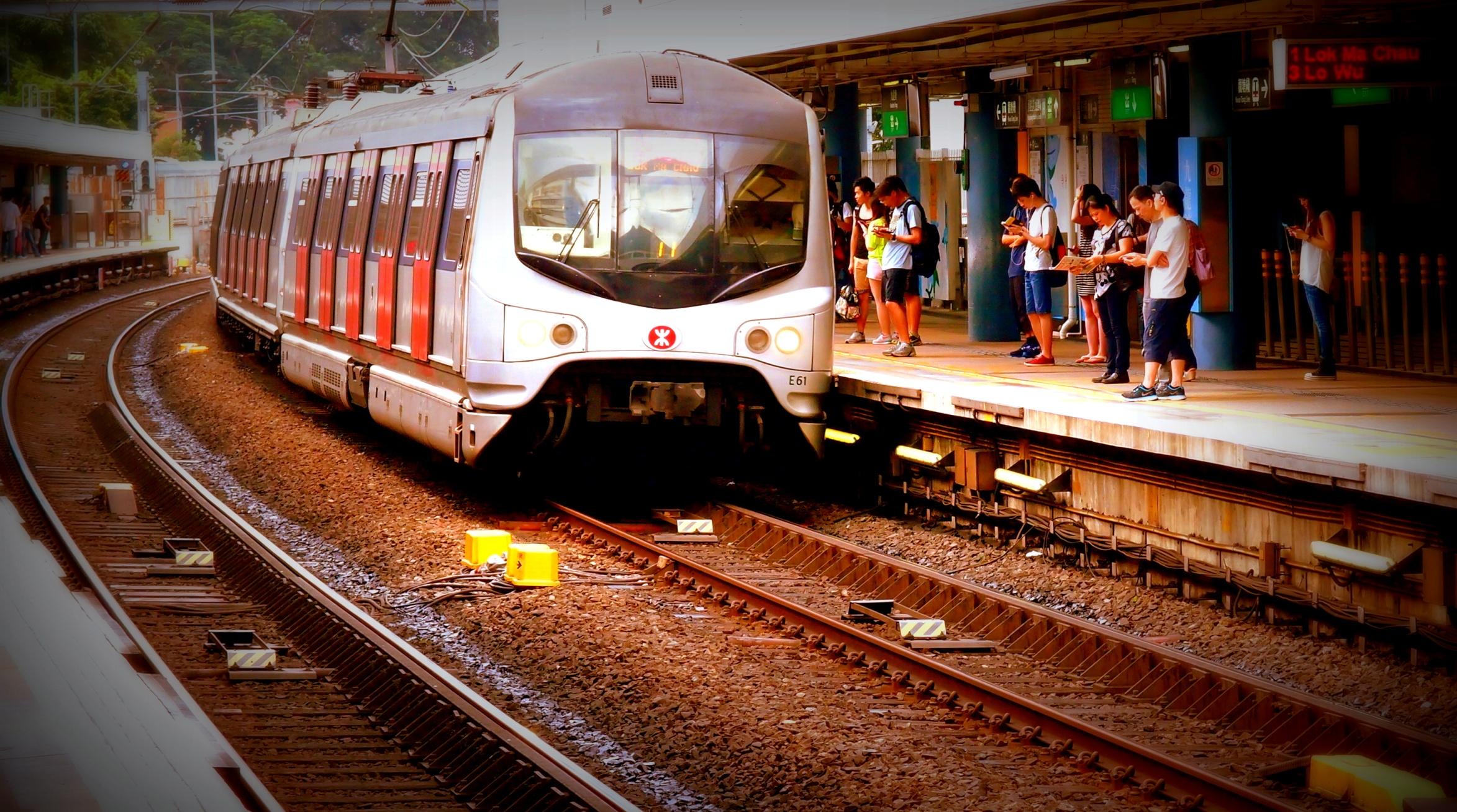 Train E61 heading towards the China Border