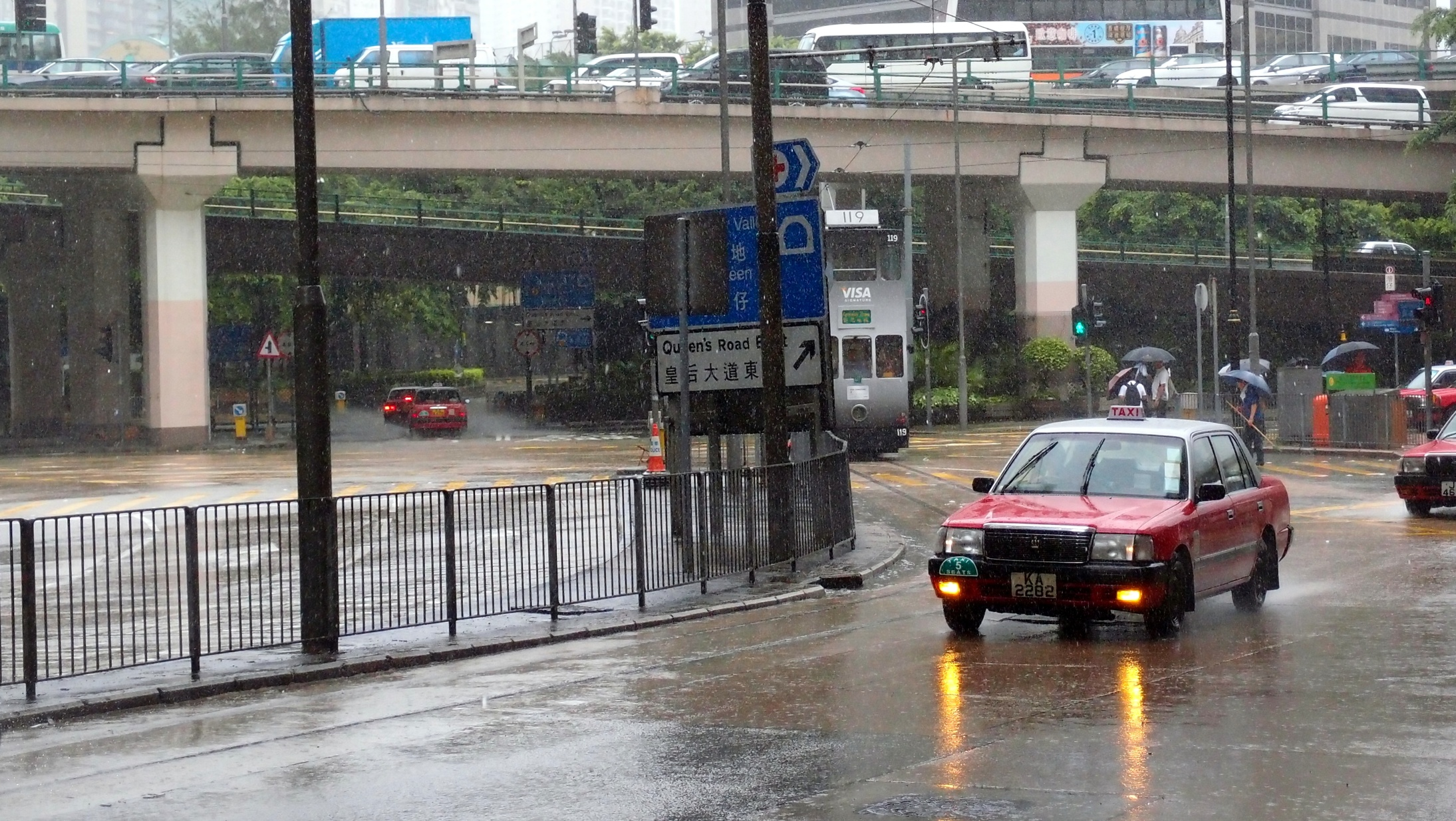 Try catching a taxi when it rains