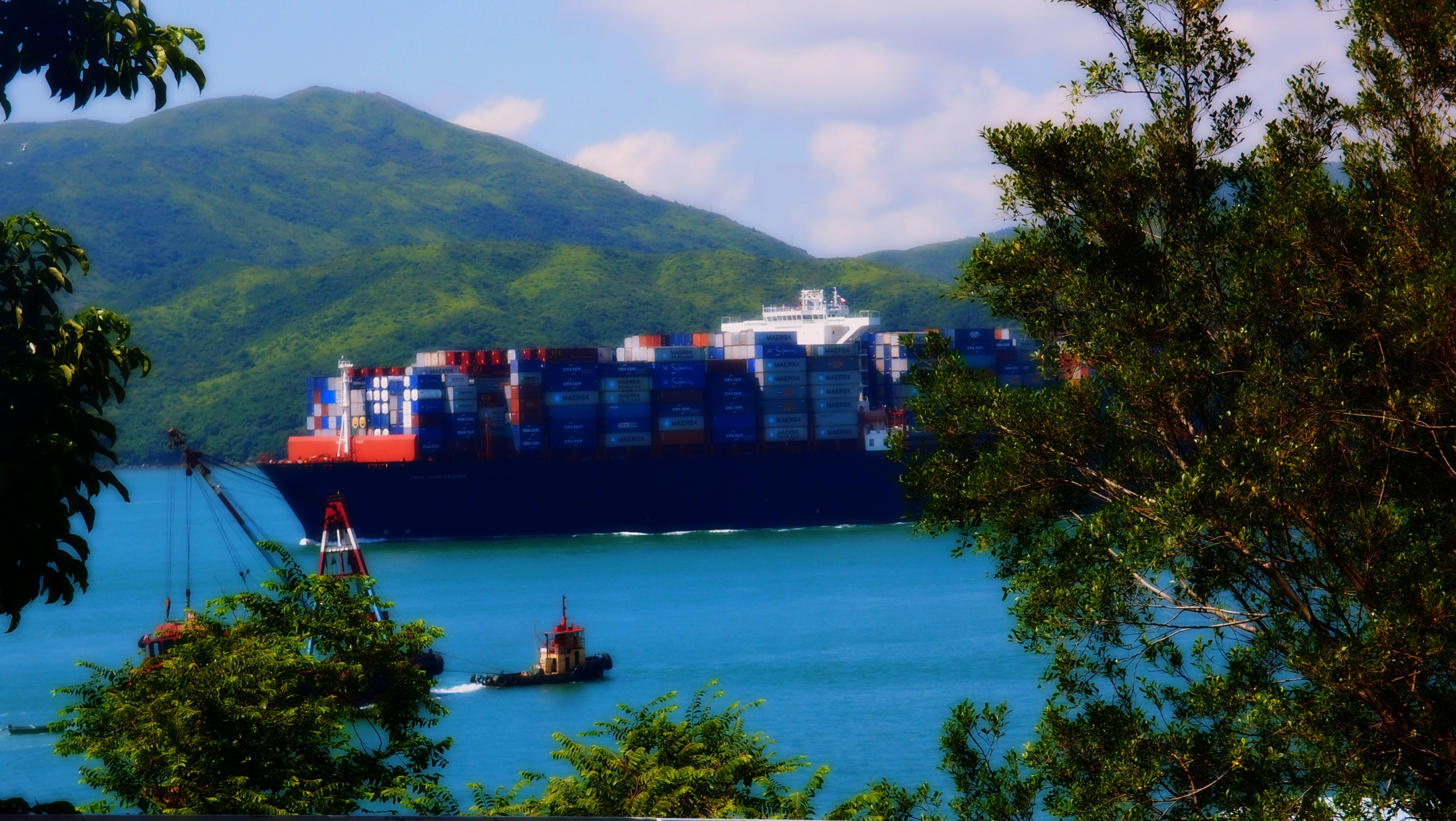 A very large container ship