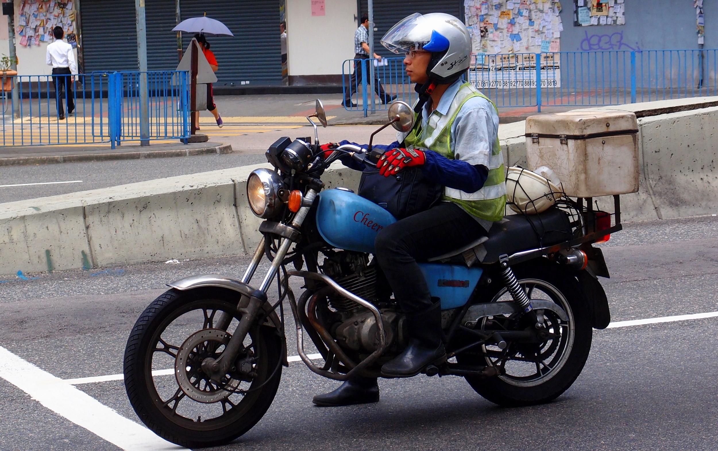 The chic biker look in Hong Kong