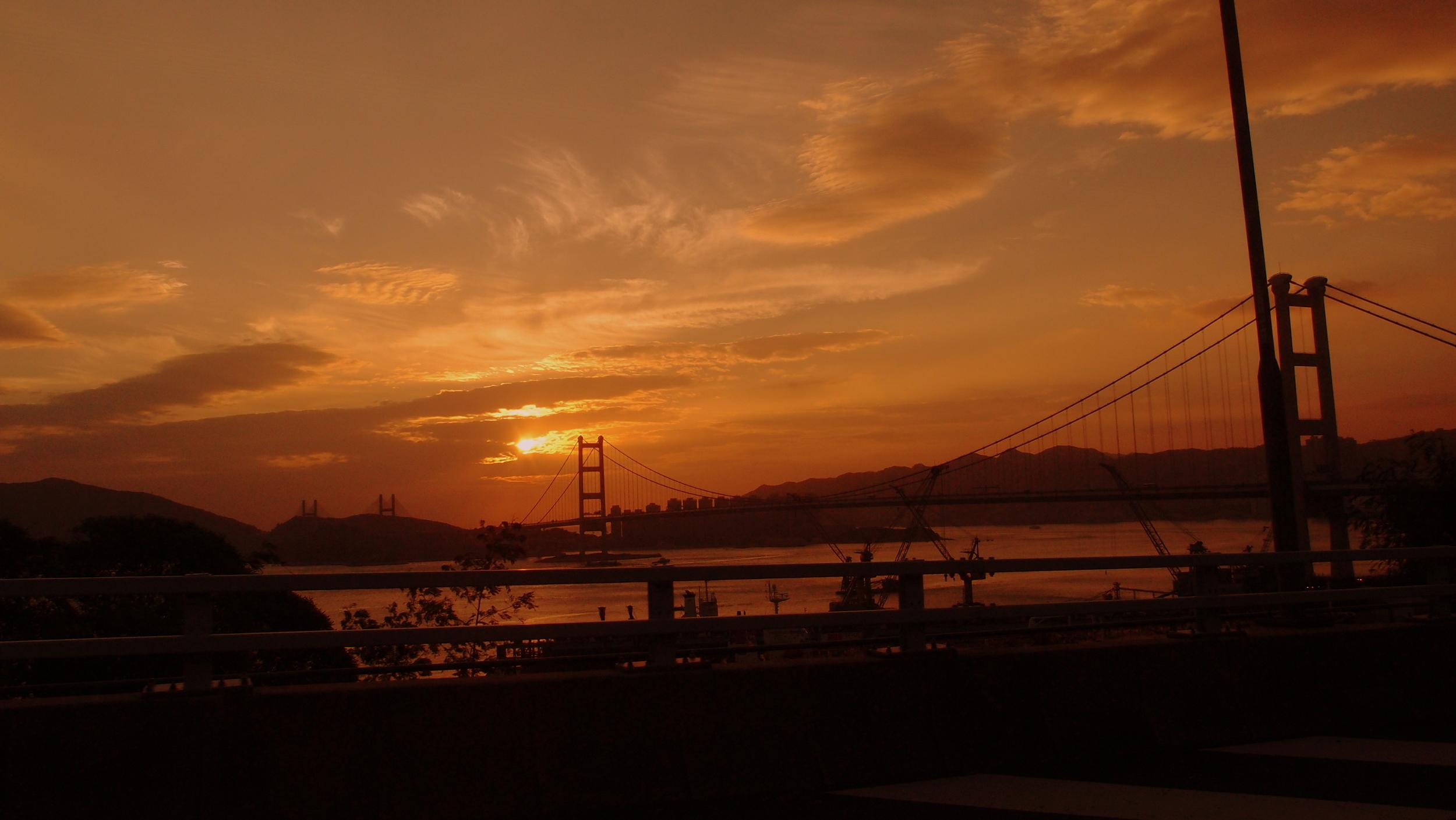 Not a typical Hong Kong Sunset!