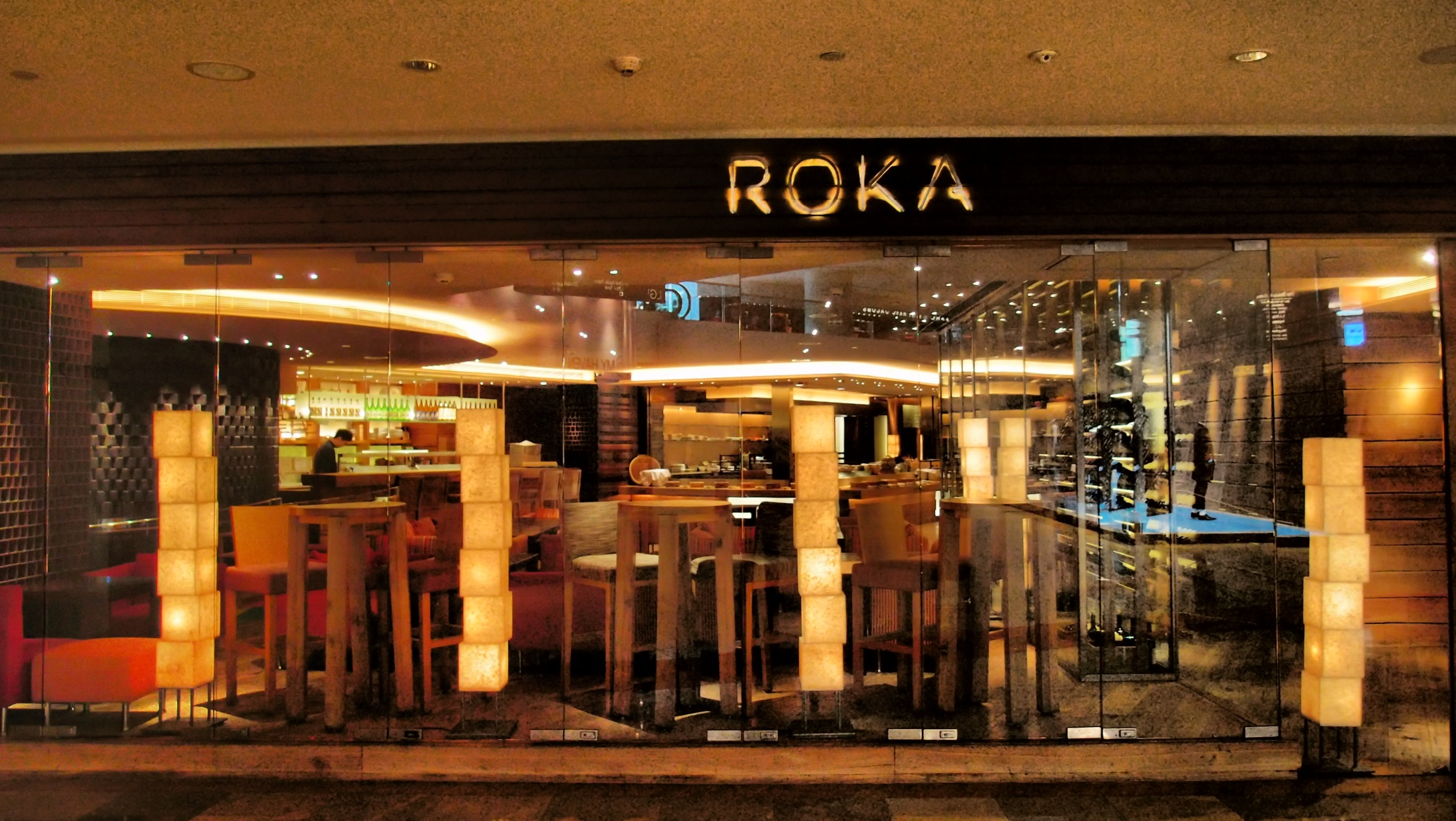 Roka, a restaurant in Pacific Place does amazingly well as it is right next to the entrance to the J.W. Marriott Hotel and is an easy choice for Hotel Guests.