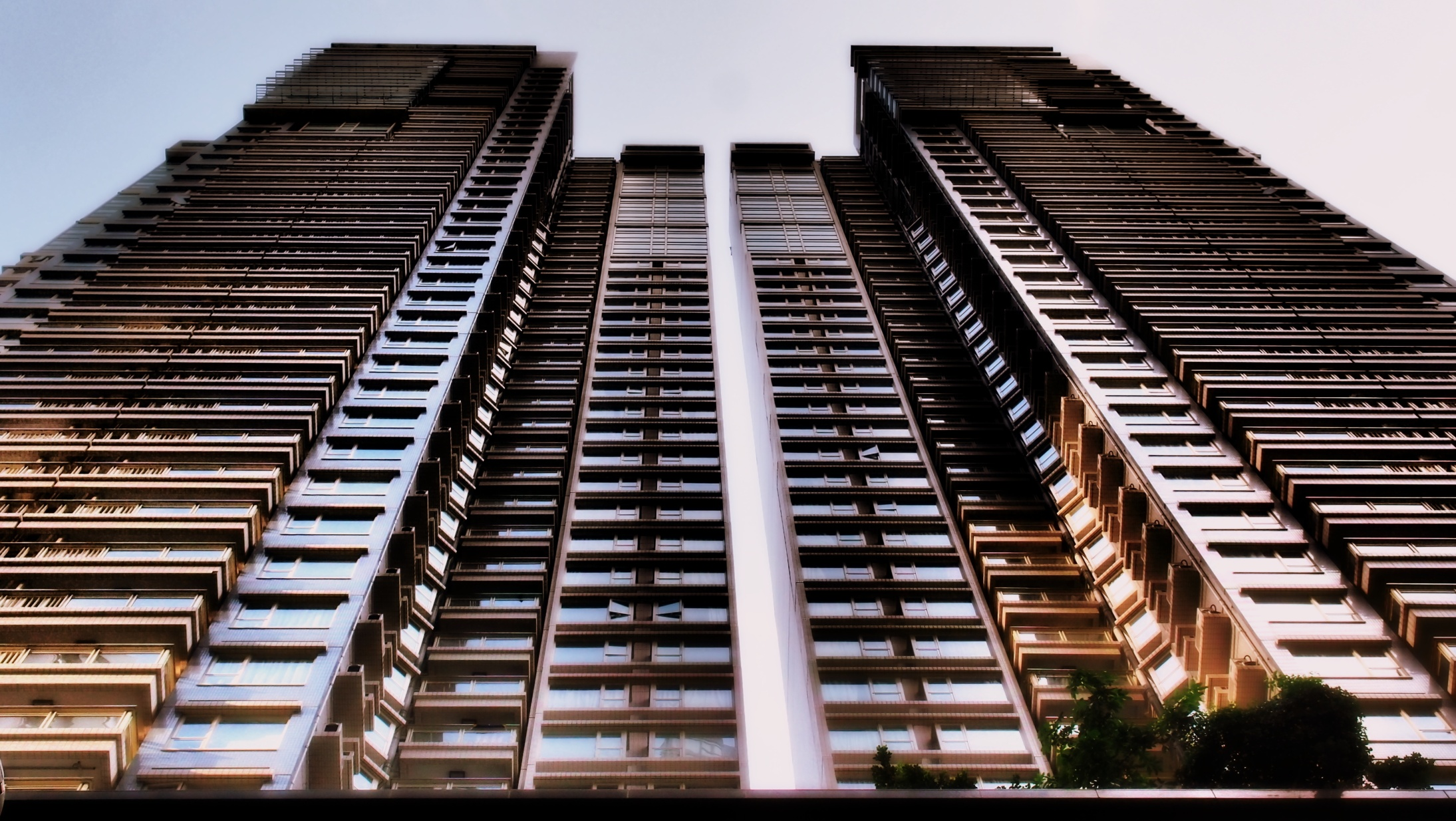 The Centre Stage apartment complex on Hollywood Road on the Island