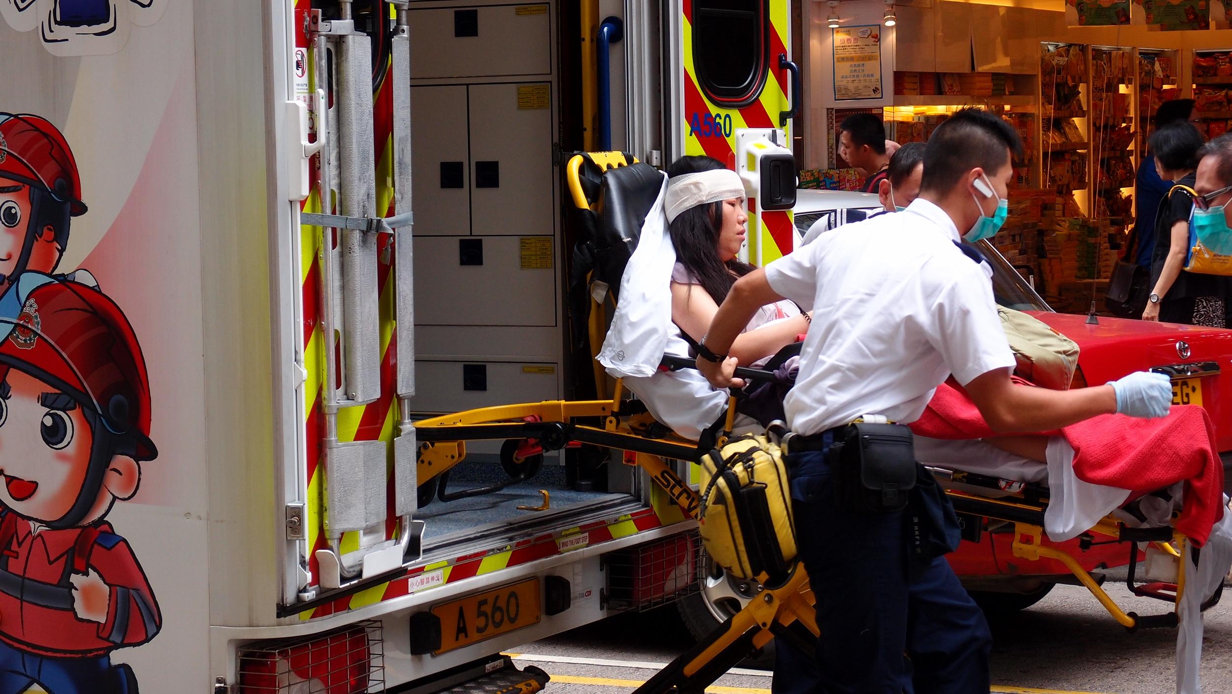 A medical emergency in Mongkok