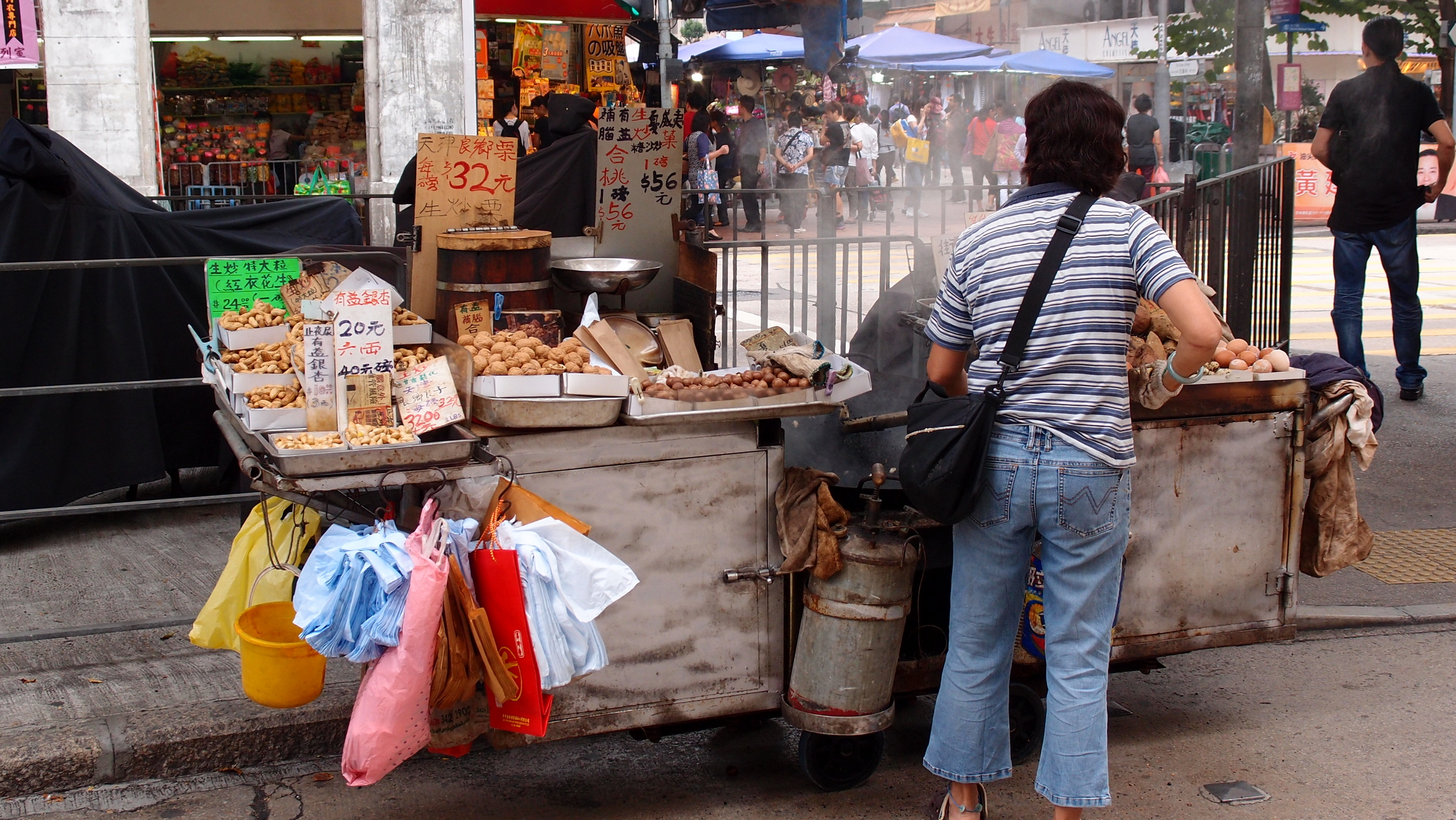 "You can always tell when winter is approaching, the ""hot"" street food starts to appear."