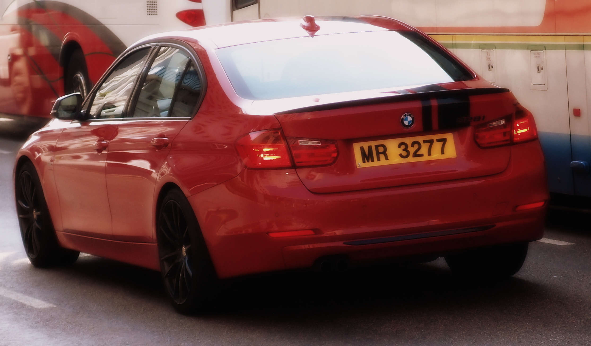 A red BMW