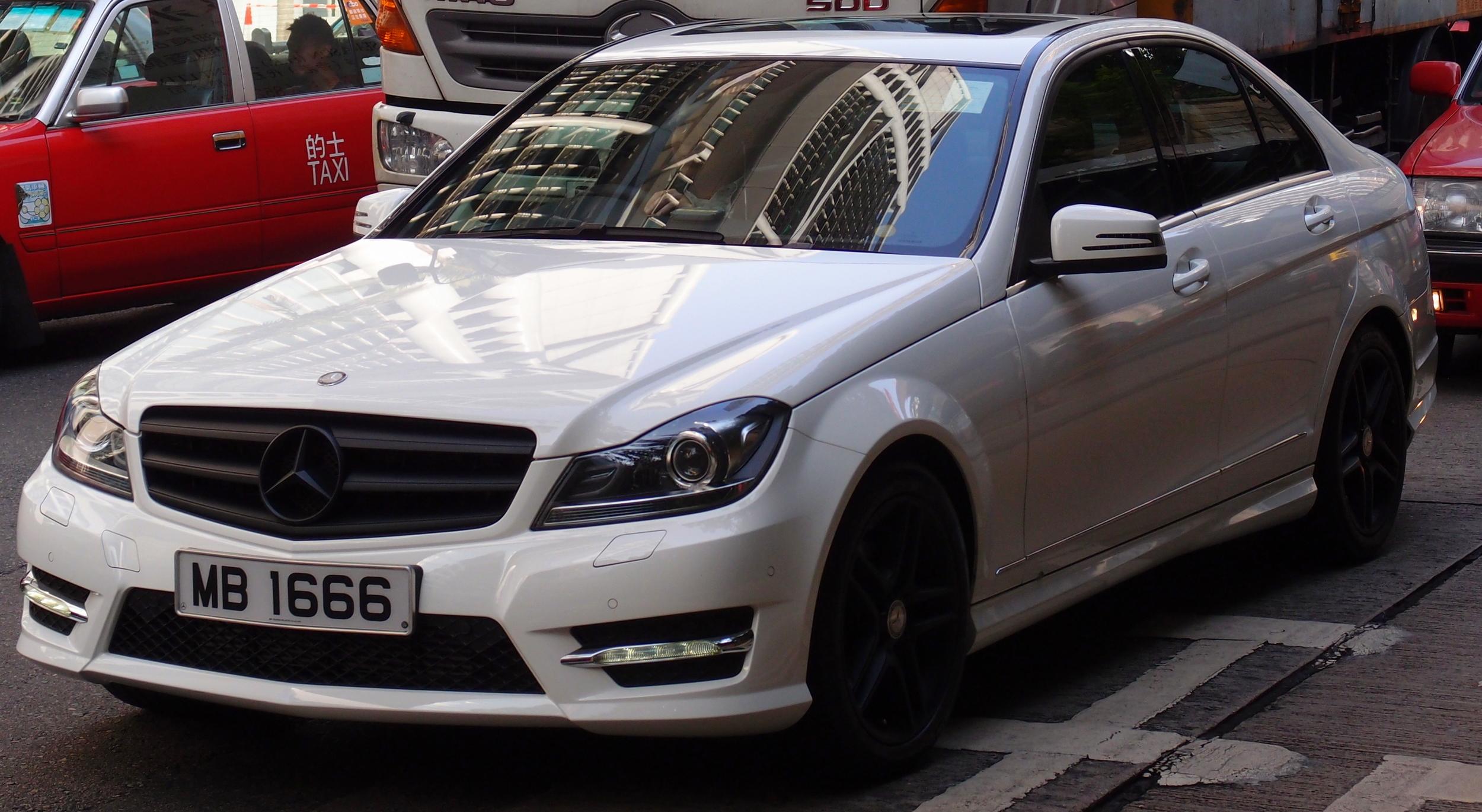 A racy Mercedes Benz