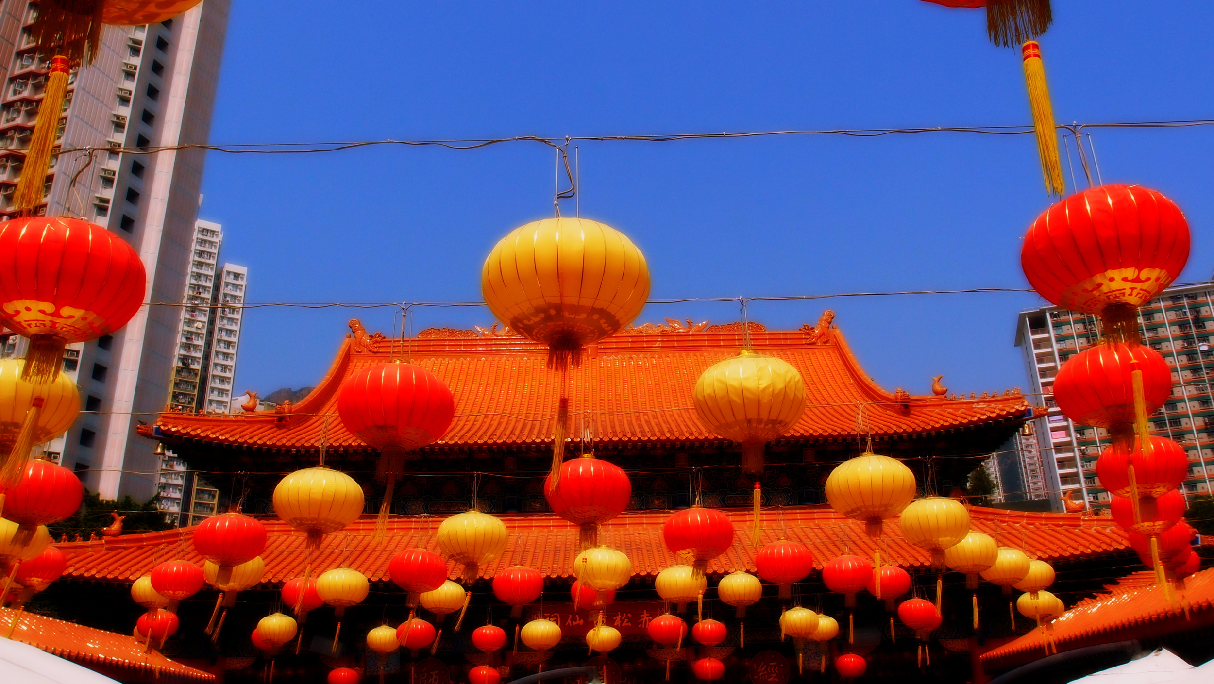 Looking absolutely stunning on a sunny day - the Sik Sik Yuen Wong Tai Sin Temple