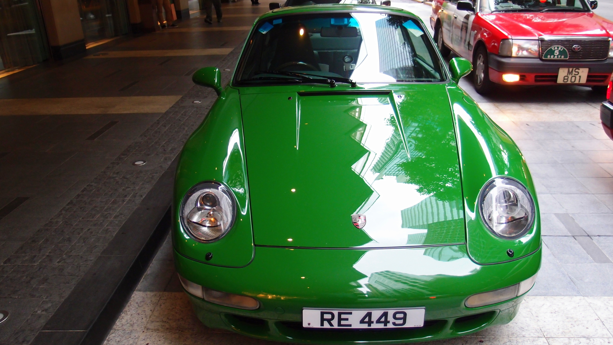 A rather odd green Porsche Carrera