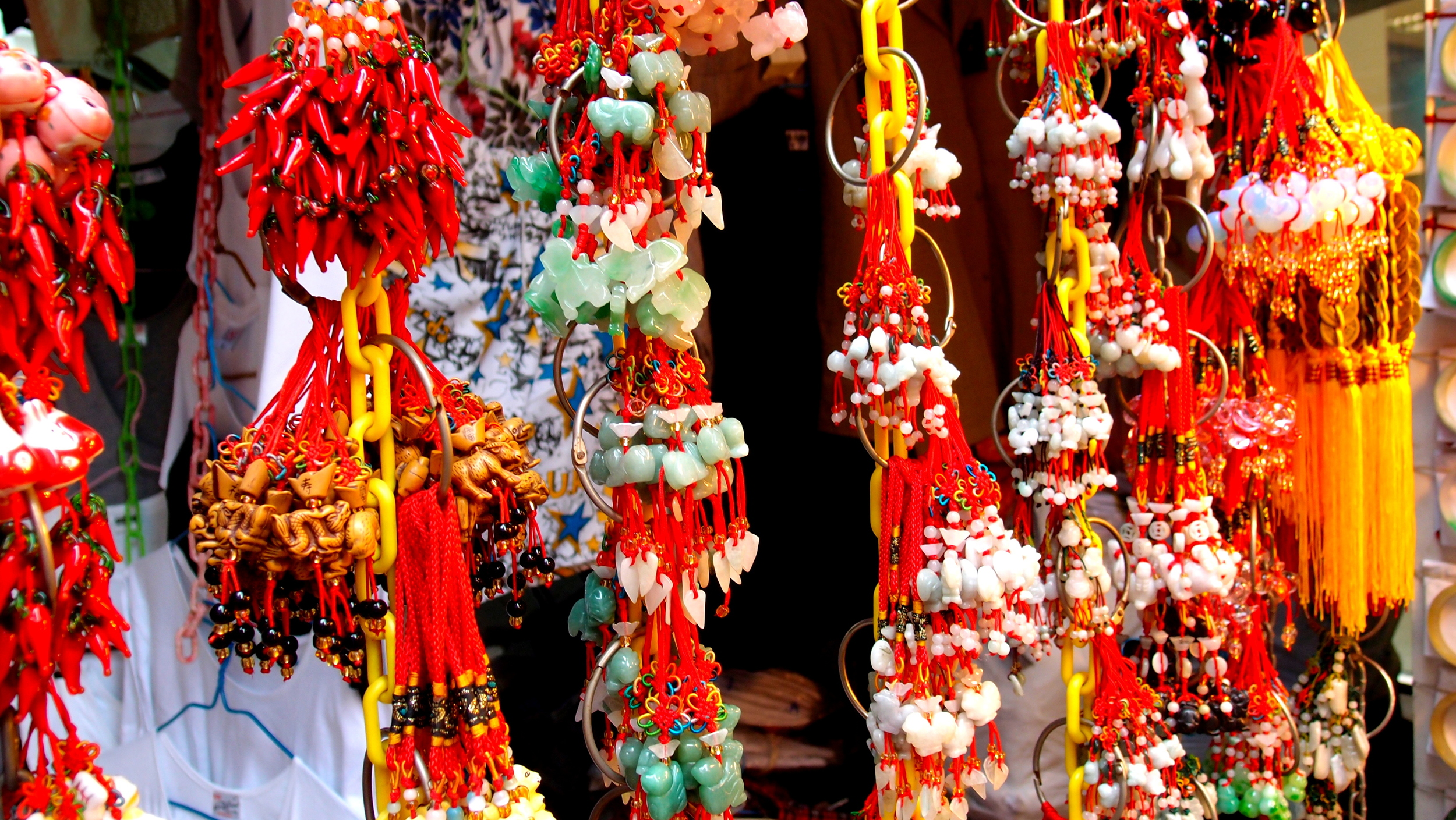 Typical trinkets on sale at markets