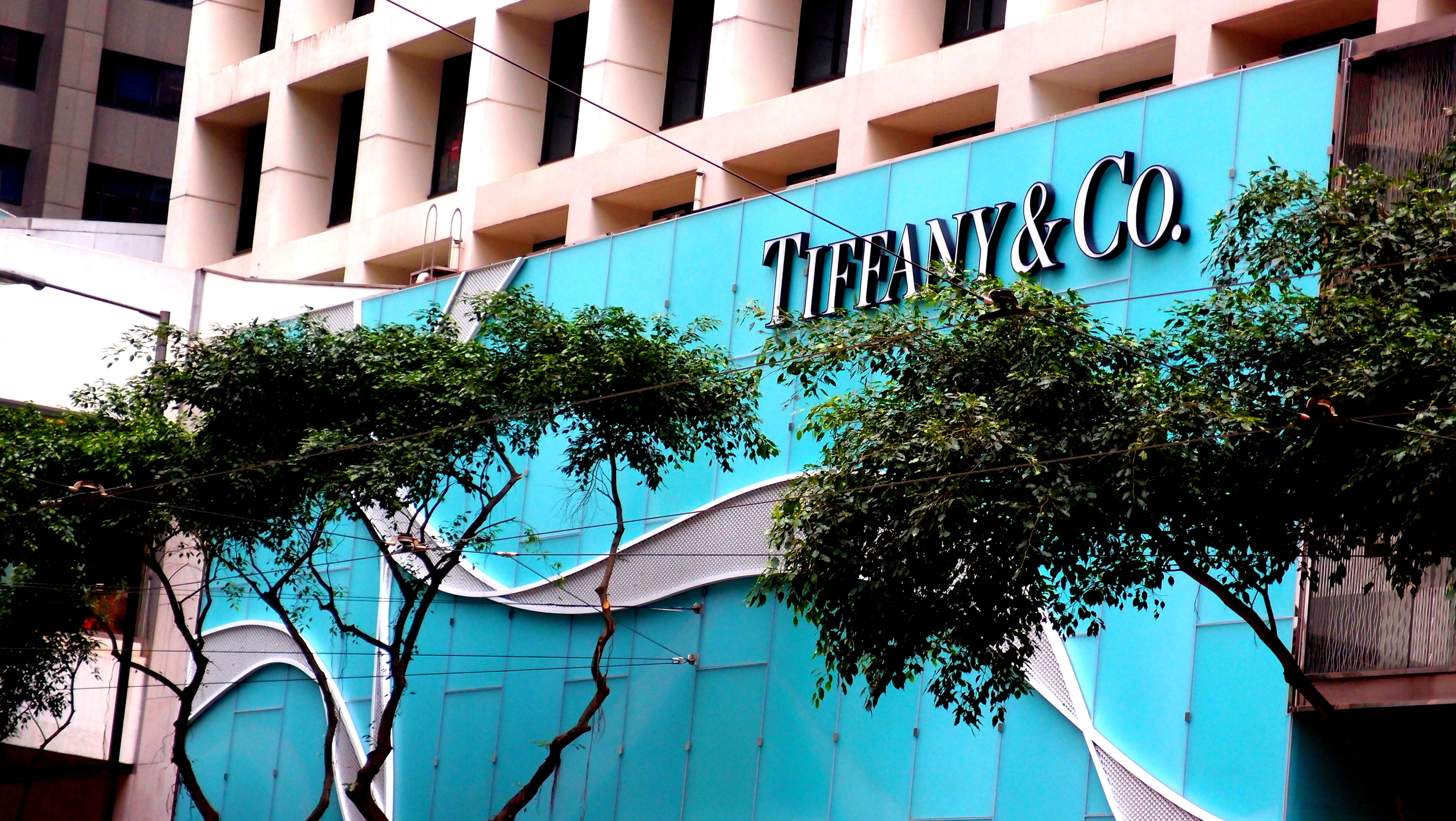 They have spent what seems to be a year making this sign!! Most cities have one Tiffany store, we have 6!