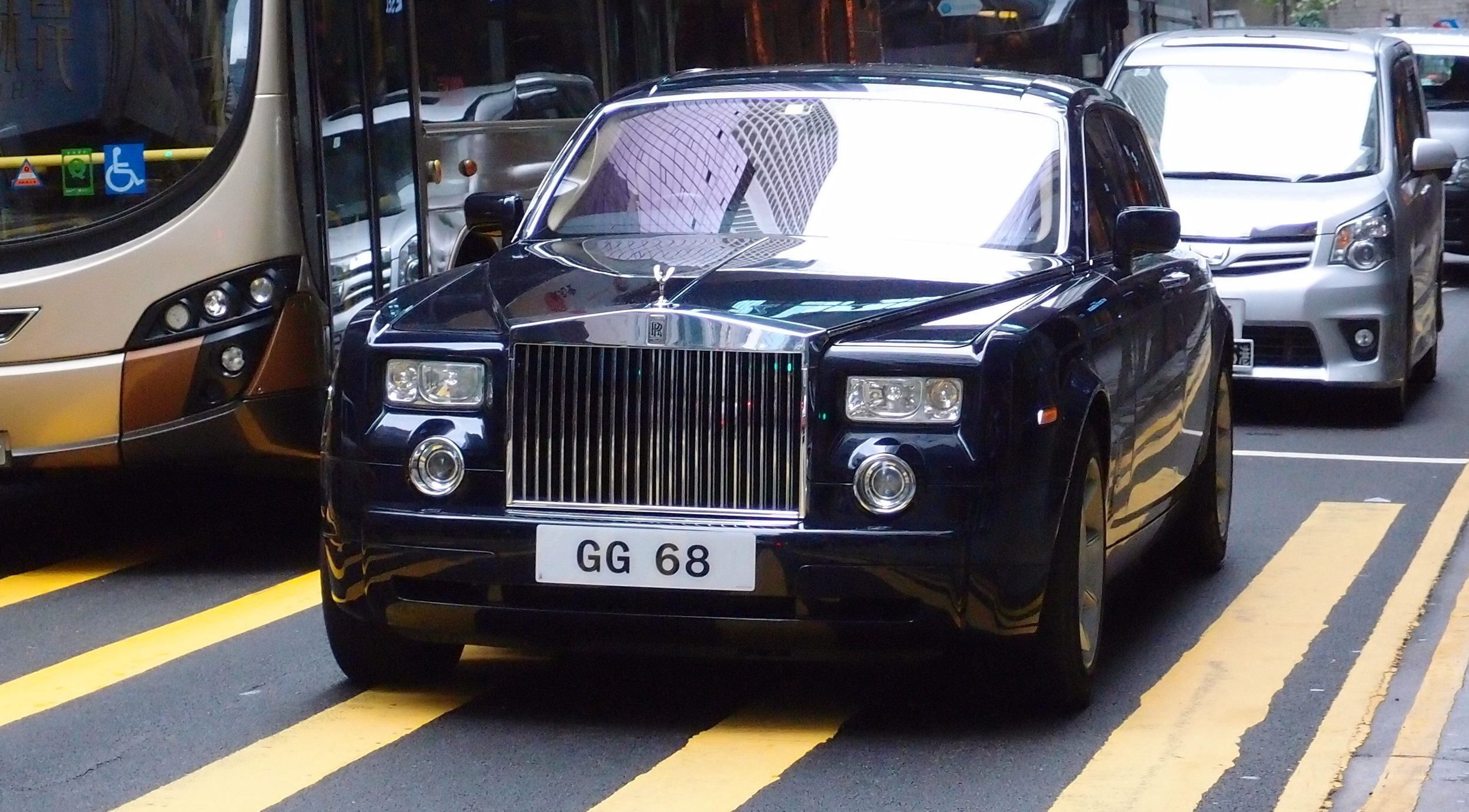 A somewhat staid Rolls Royce with the lucky number plate