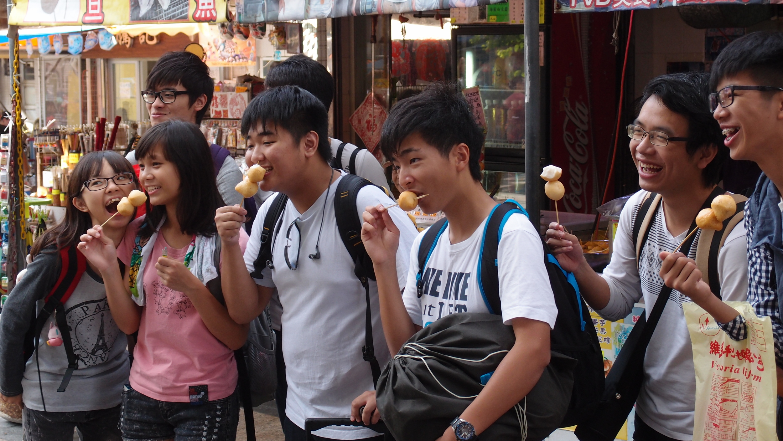 There is a fishball stall on Cheung Chau Island that is mobbed by many people, obviously there is a secret ingredient in   his   fishballs