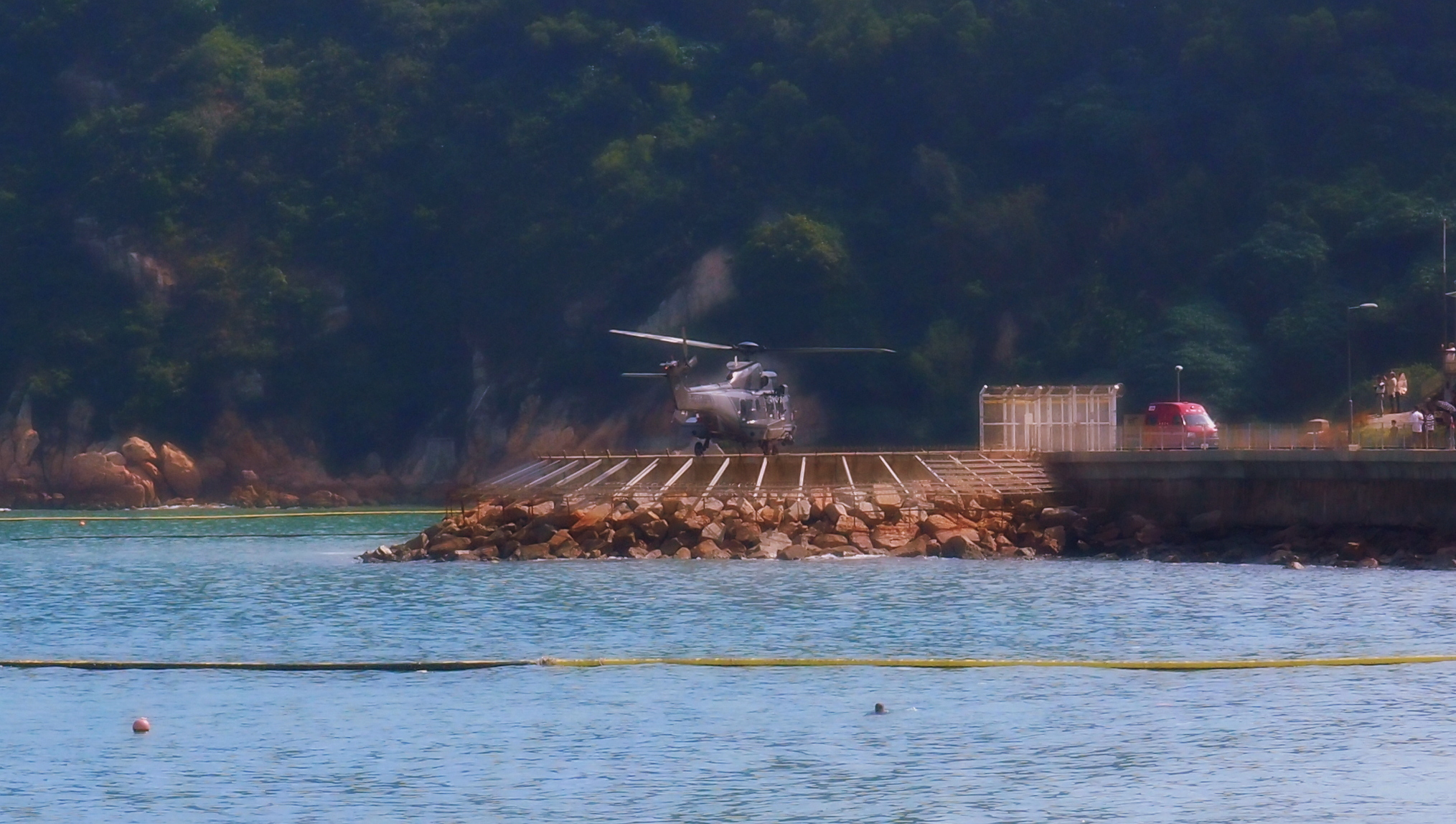If there is a medical emergency on Cheung Chau Island they send a helicopter for you