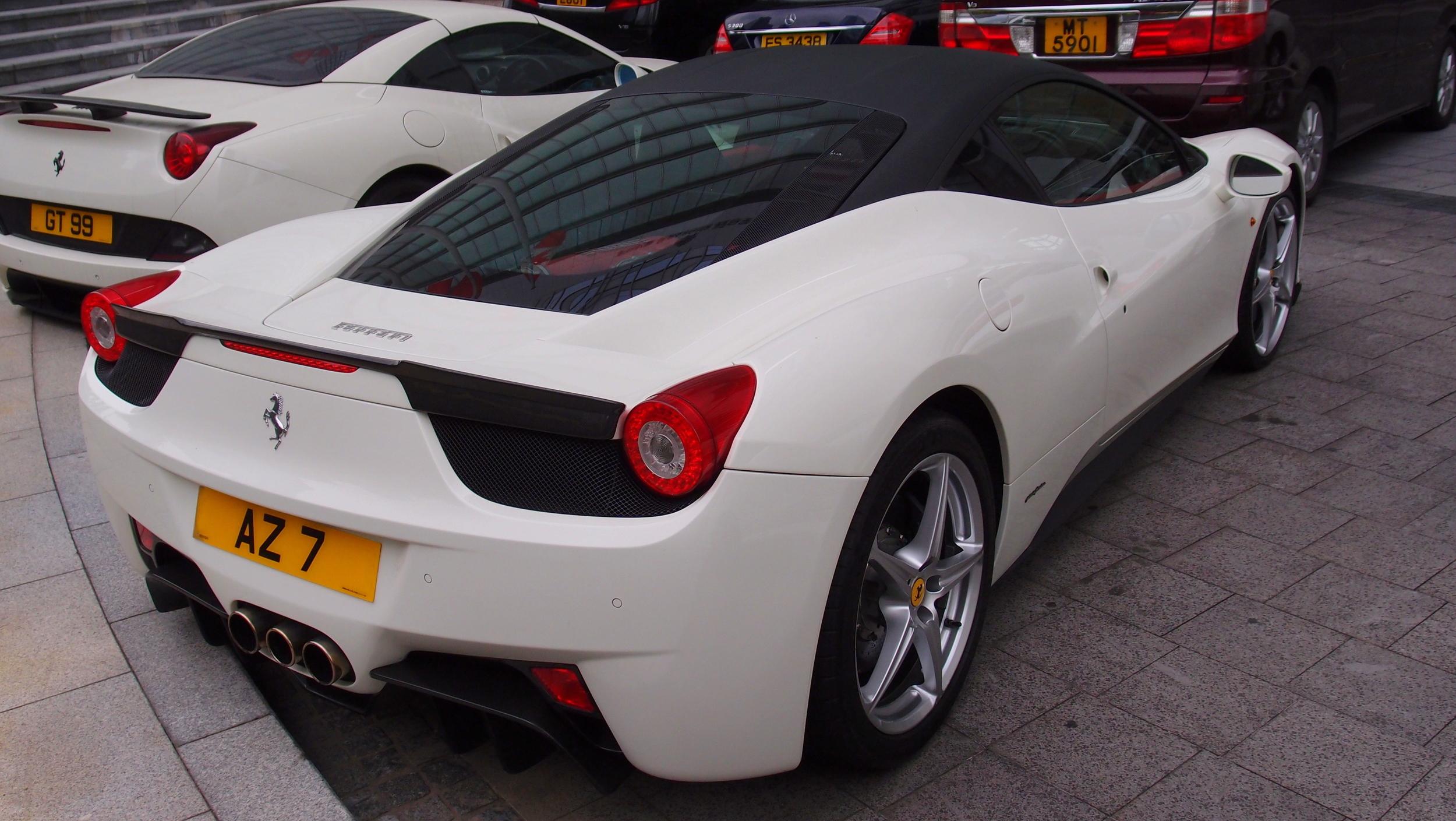 Another lovely white Ferrari