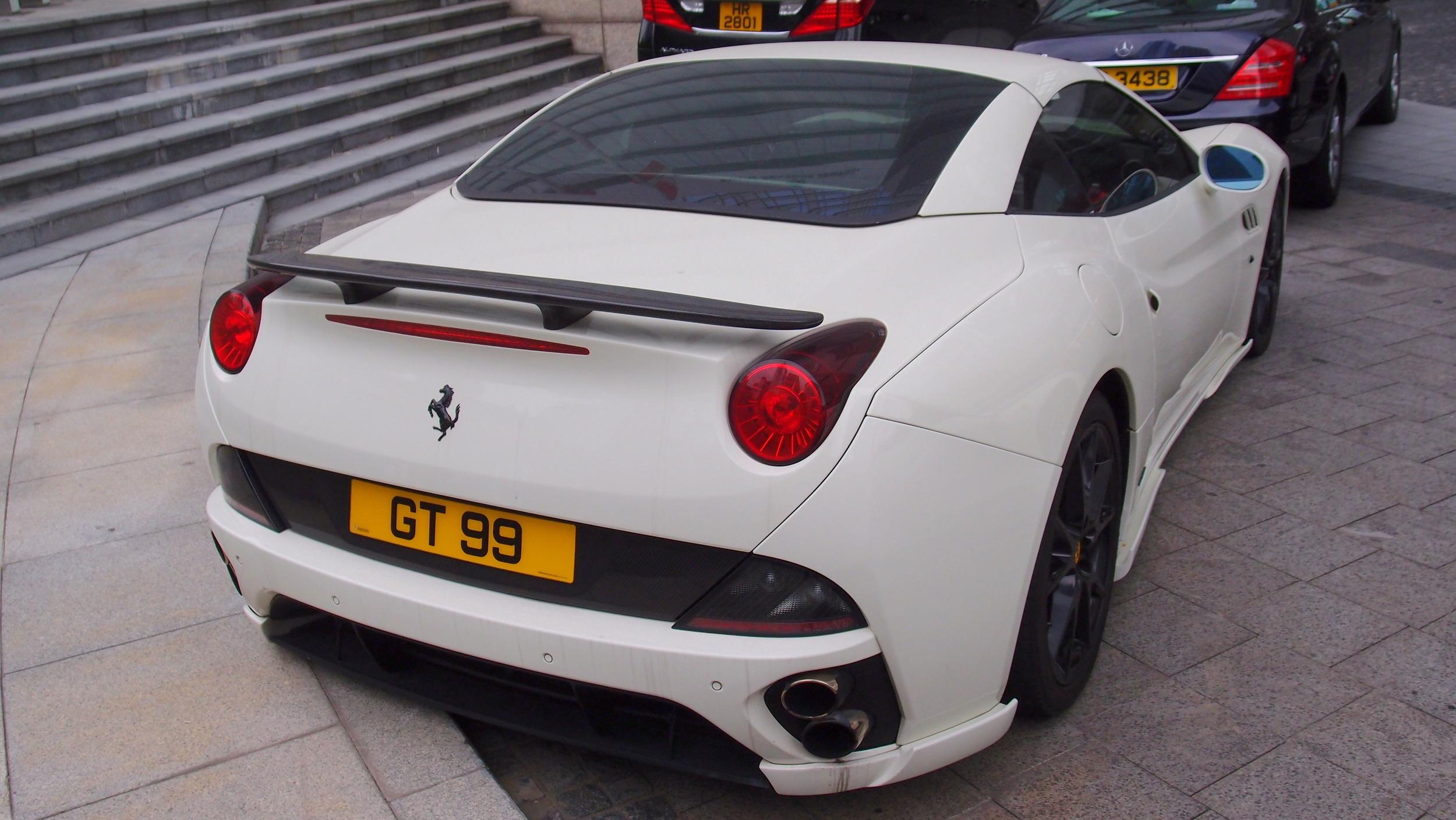 Lovely white Ferrari