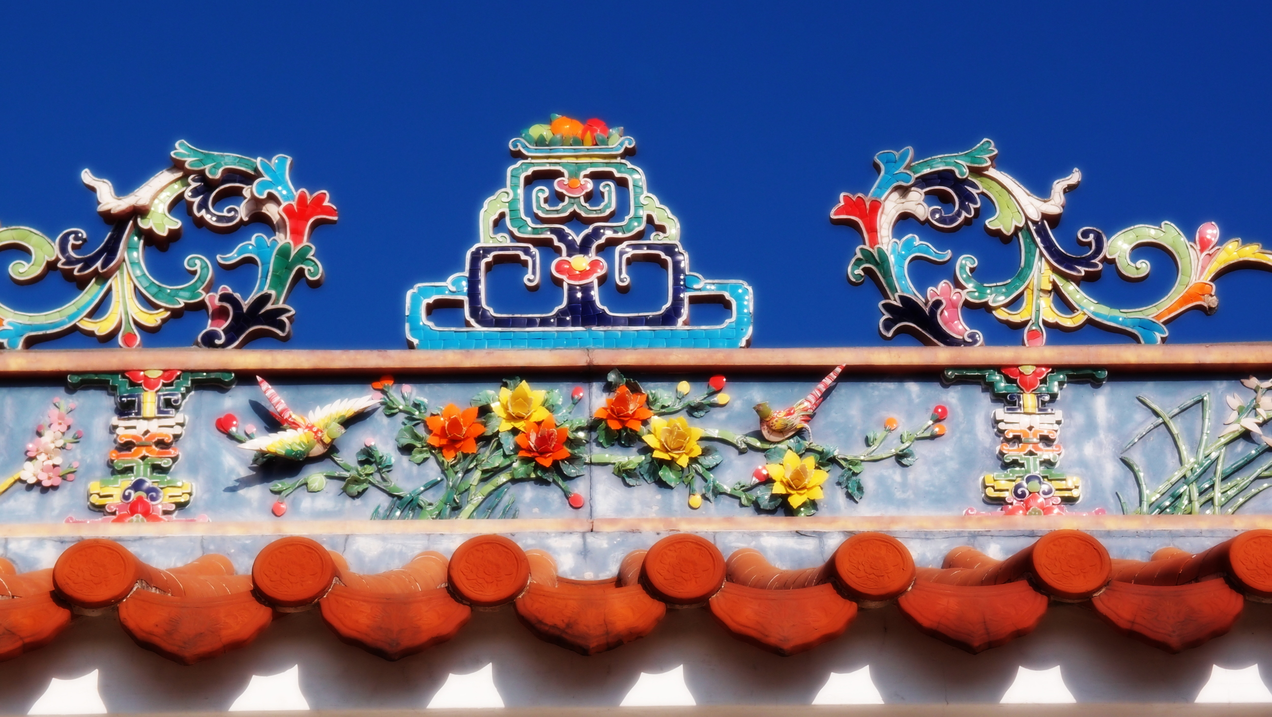 The roof of the Pak Tai Temple