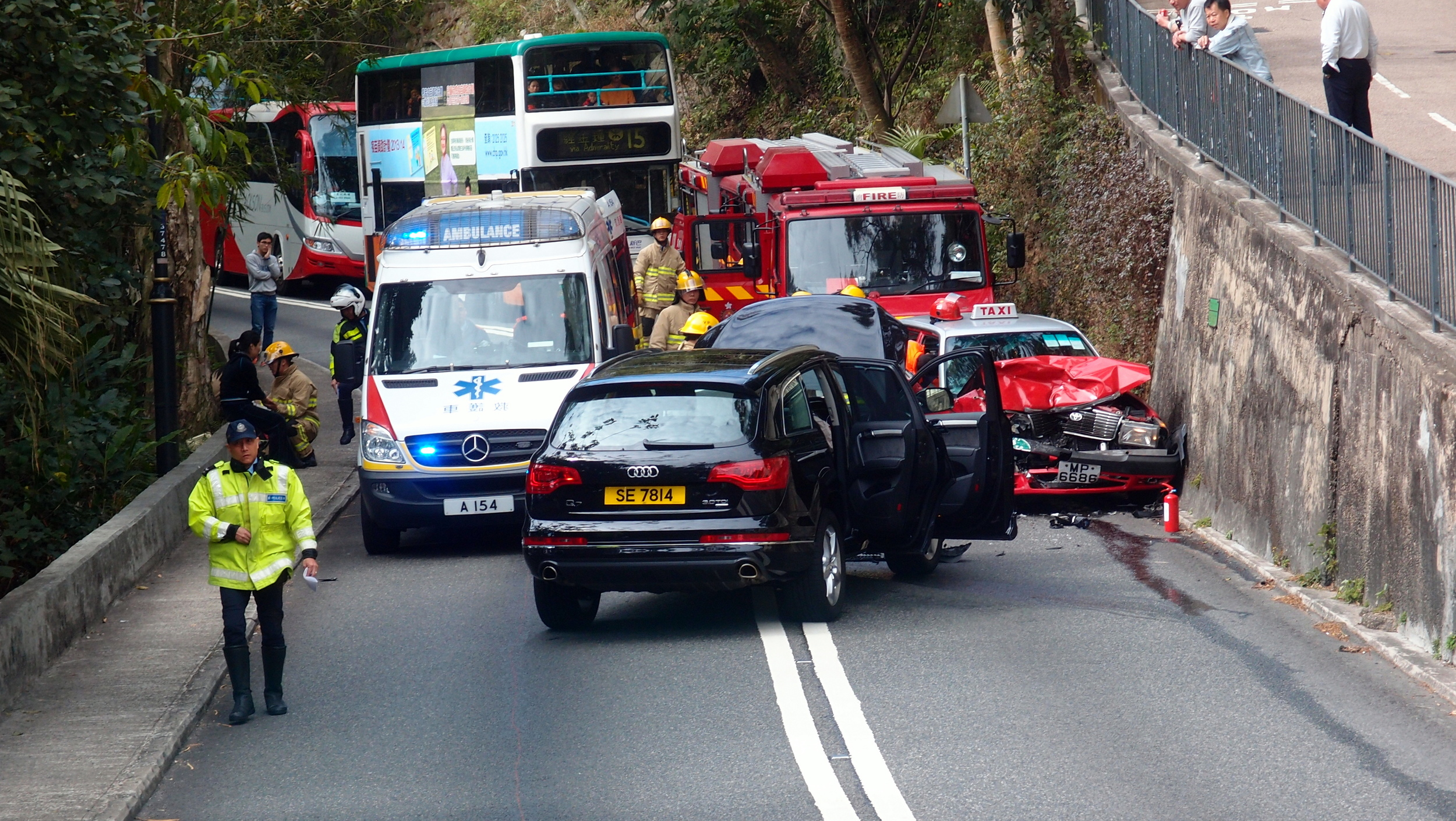 Traffic accident on Peak Road