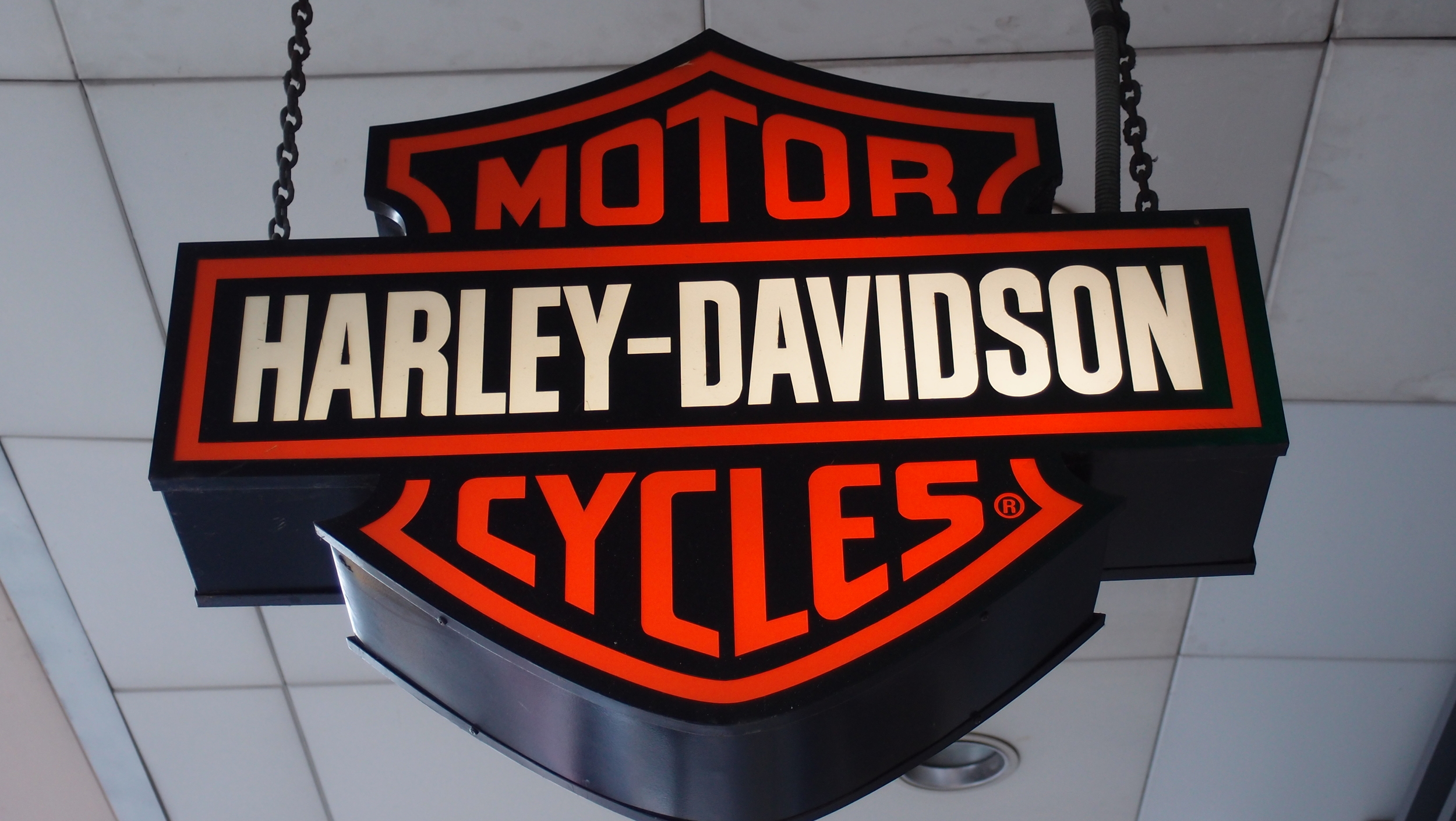 Bit of an iconic logo! Harley Davidson in Hong Kong